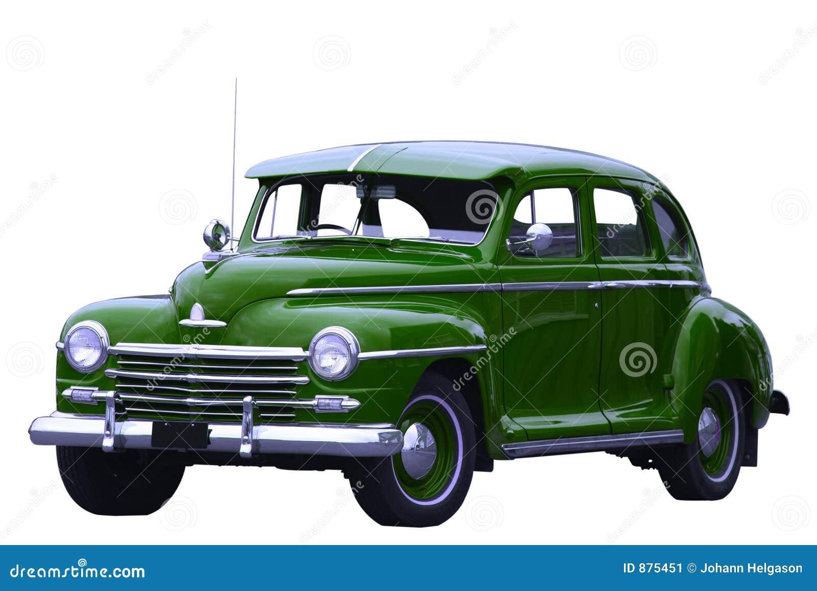Klasyczna zielony samochód