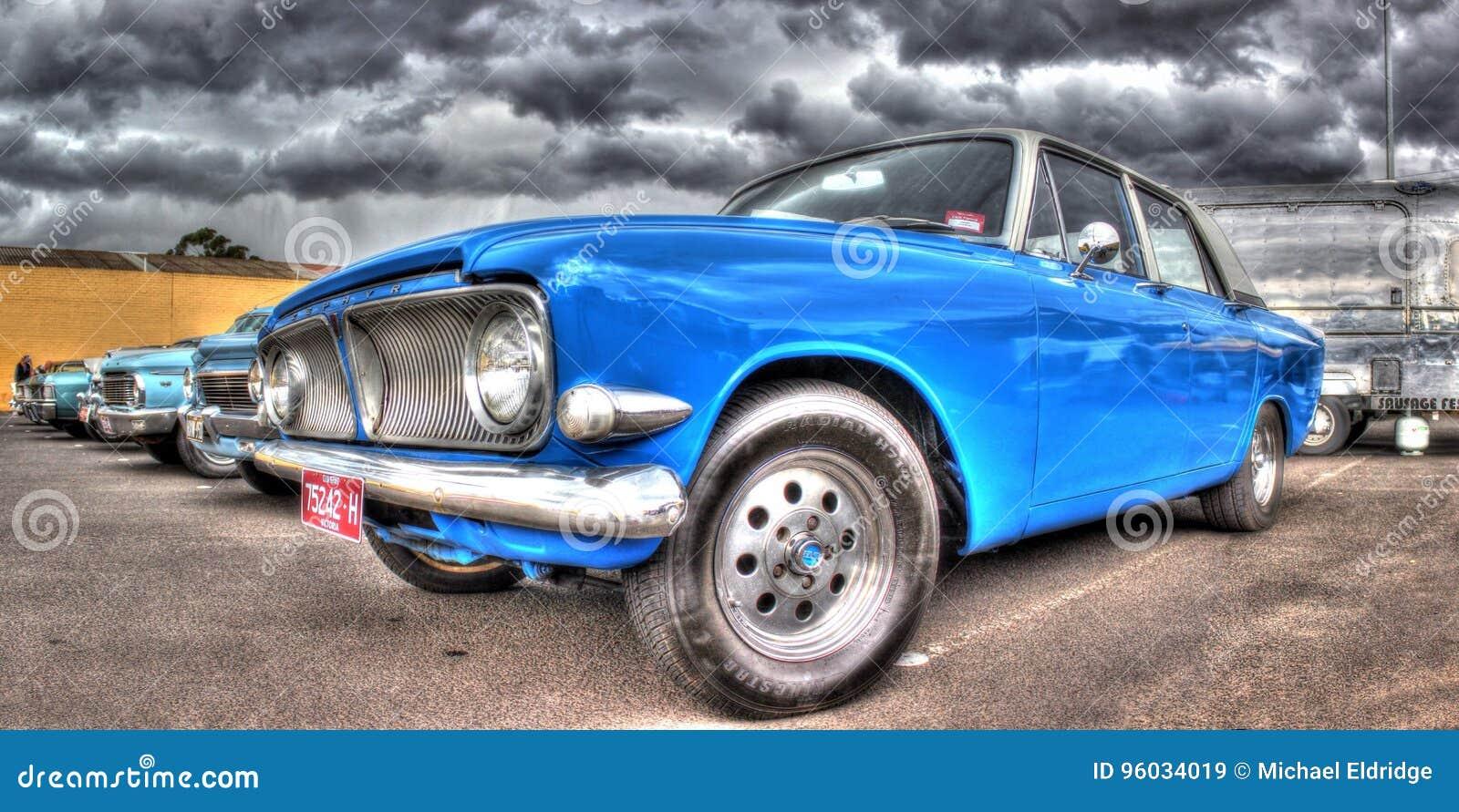 Klasyczny Brytyjski budujący Ford Zephyr