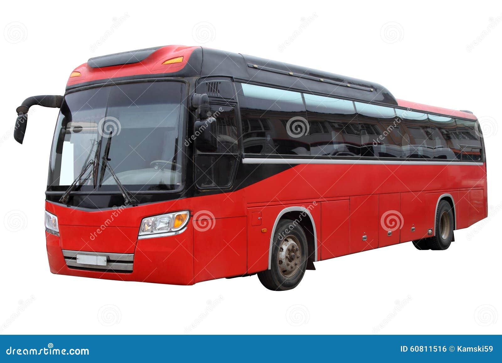 Klasyczny czerwony autobus