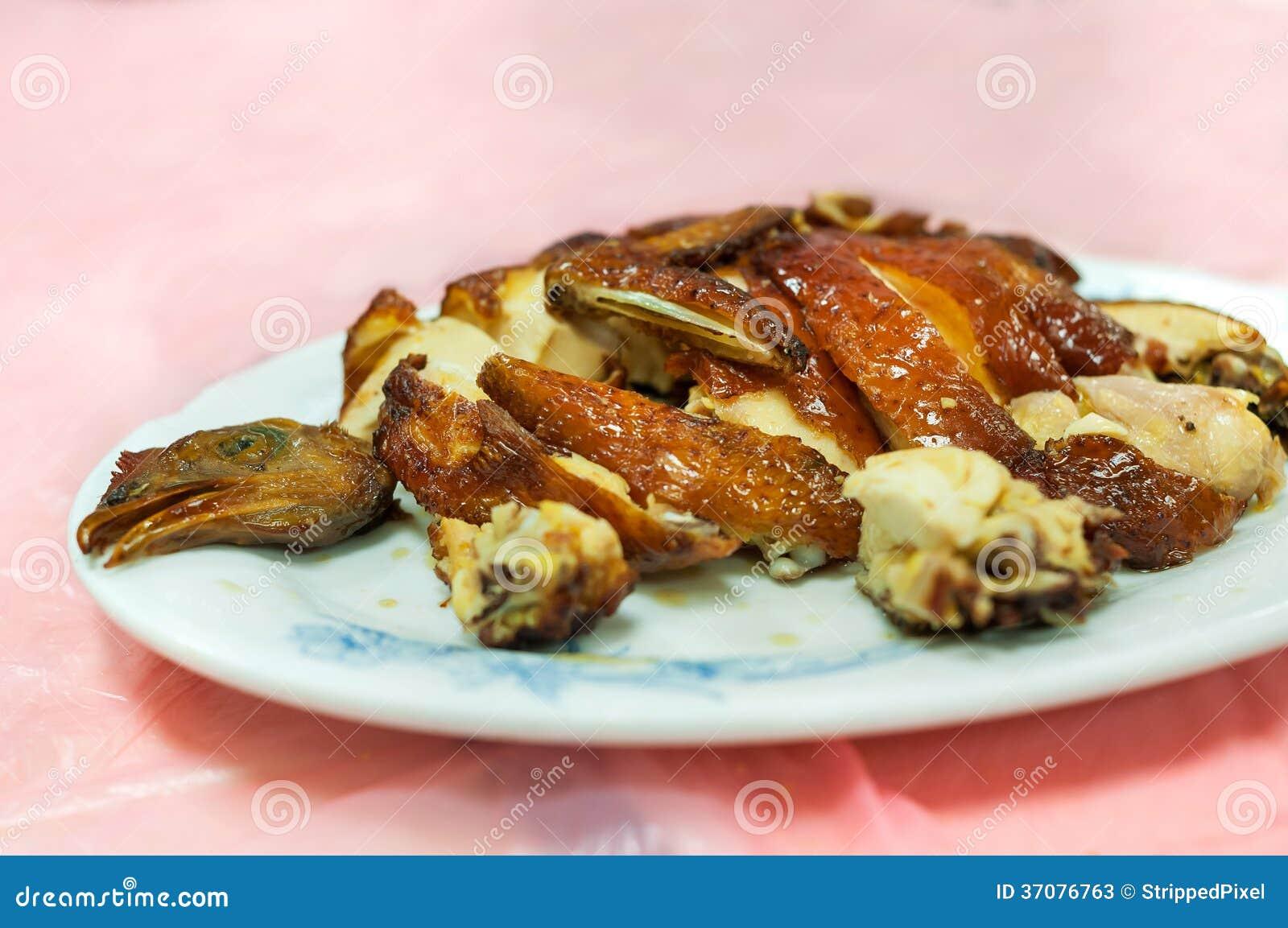 Download Klasyczny Hong Kong Pieczony Kurczak Przy Miejscowym Gotował Karmowego Centre Obraz Stock - Obraz złożonej z azjata, dong: 37076763