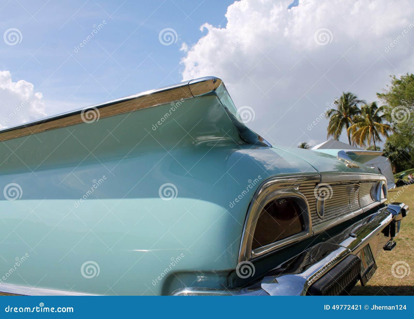 Klasyczny luksusowy amerykański samochodowy szczegół