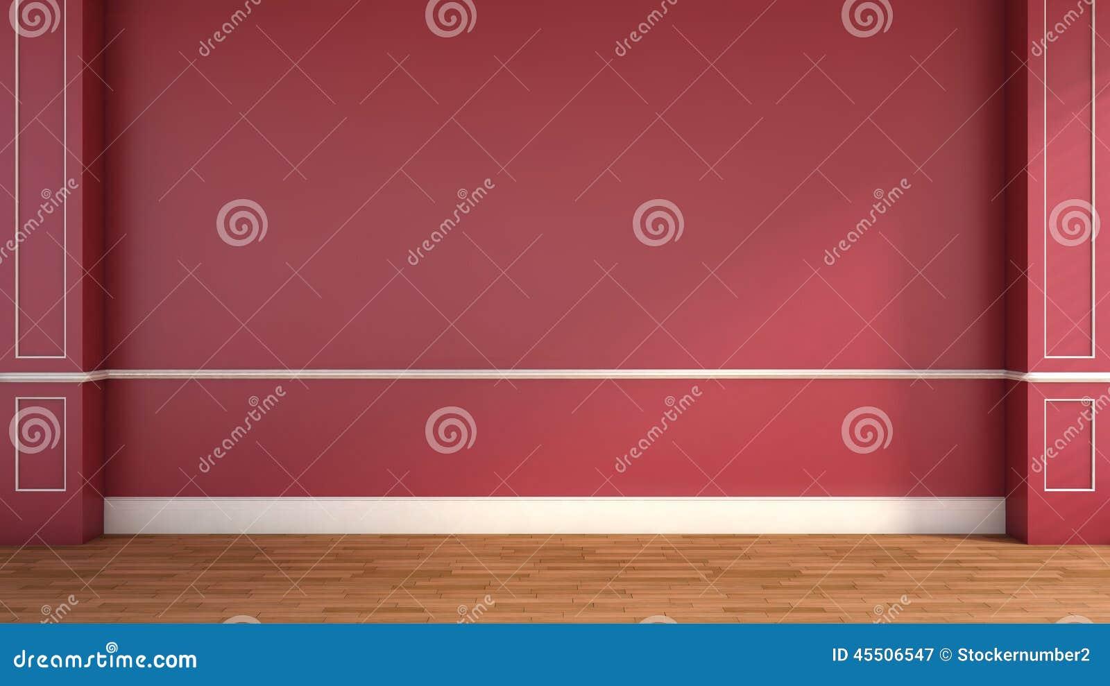 Klasyczny styl, wnętrze czerwone ilustracja 3 d
