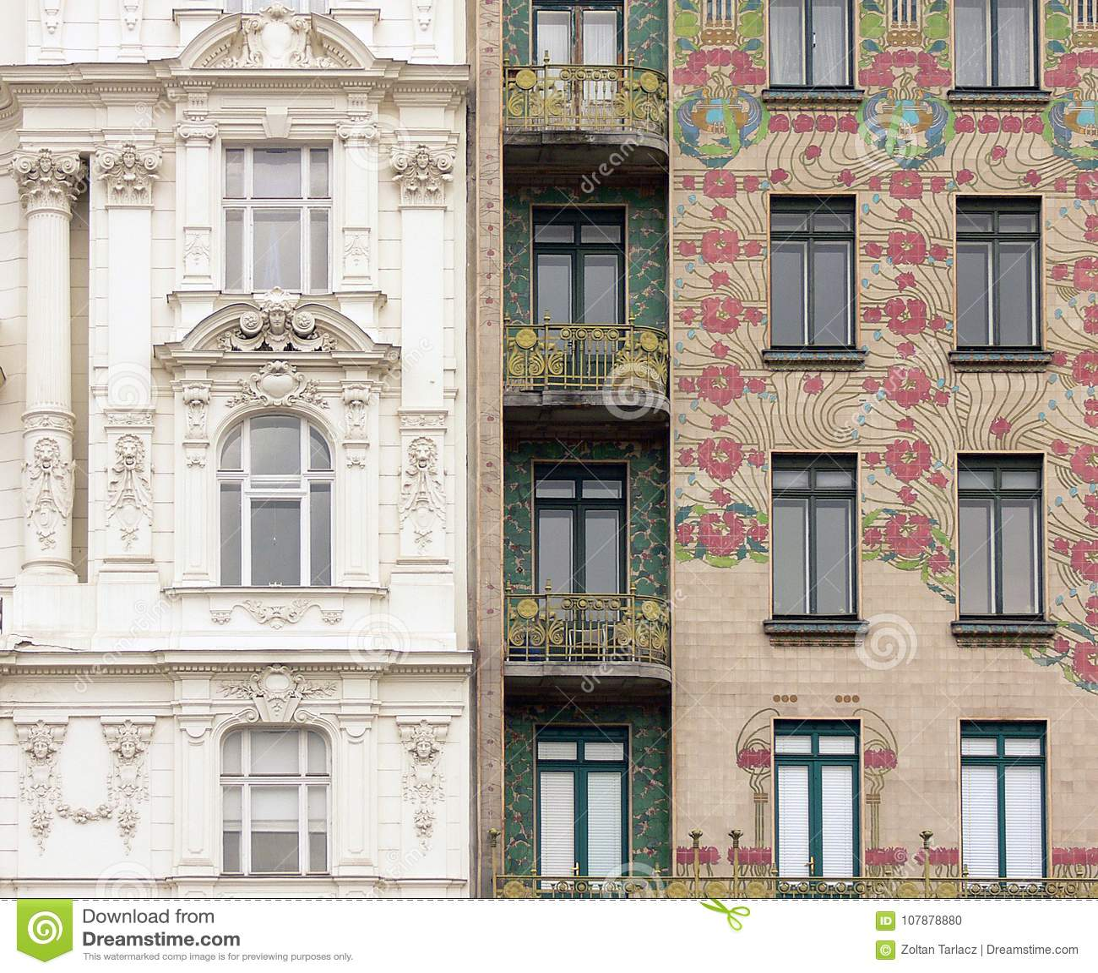 Klasyk spotyka sztukę Nouveau w Wiedeń, Austria
