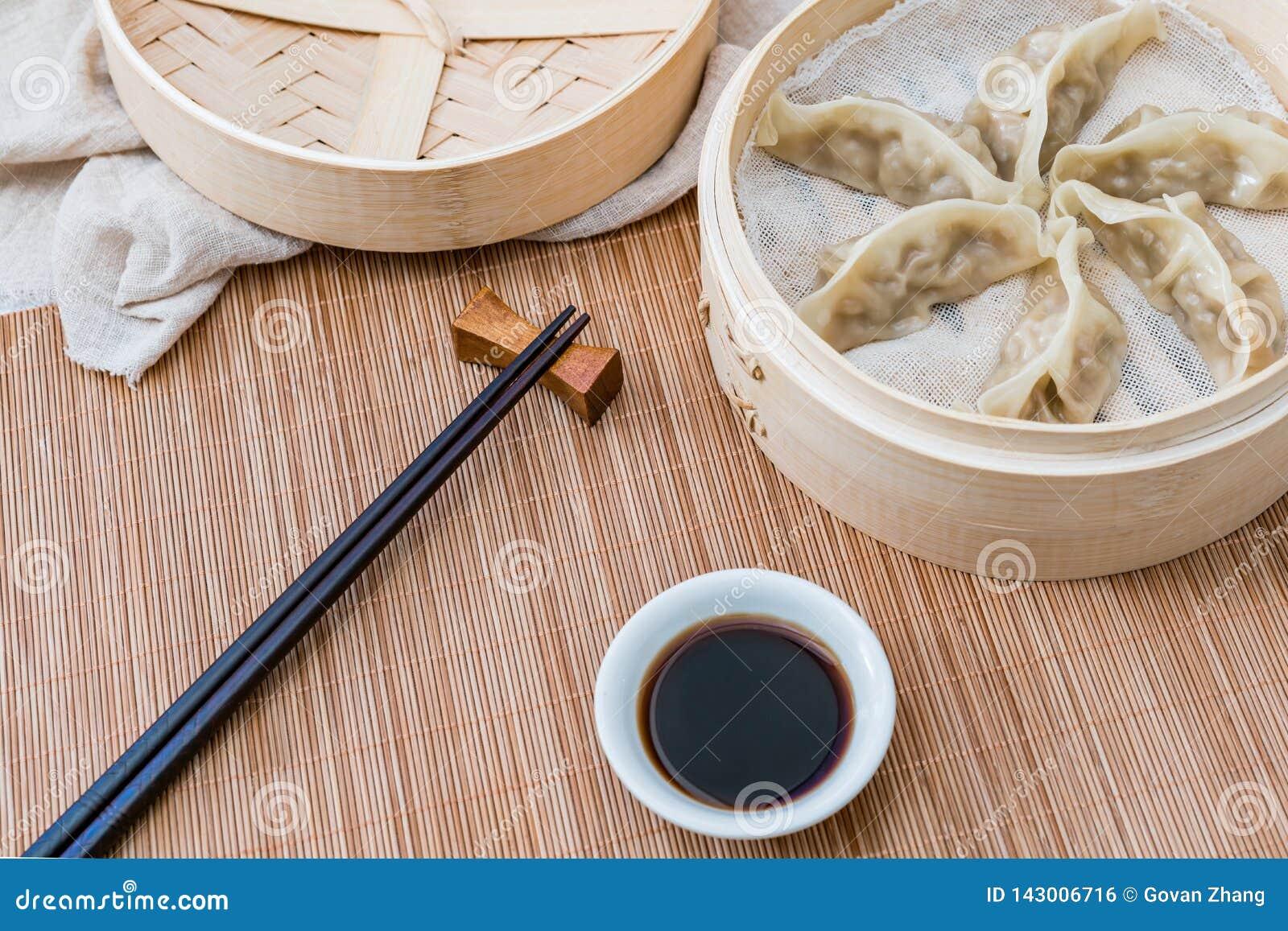 Klatka odparowane kluchy, tradycyjni chińskie delikatność