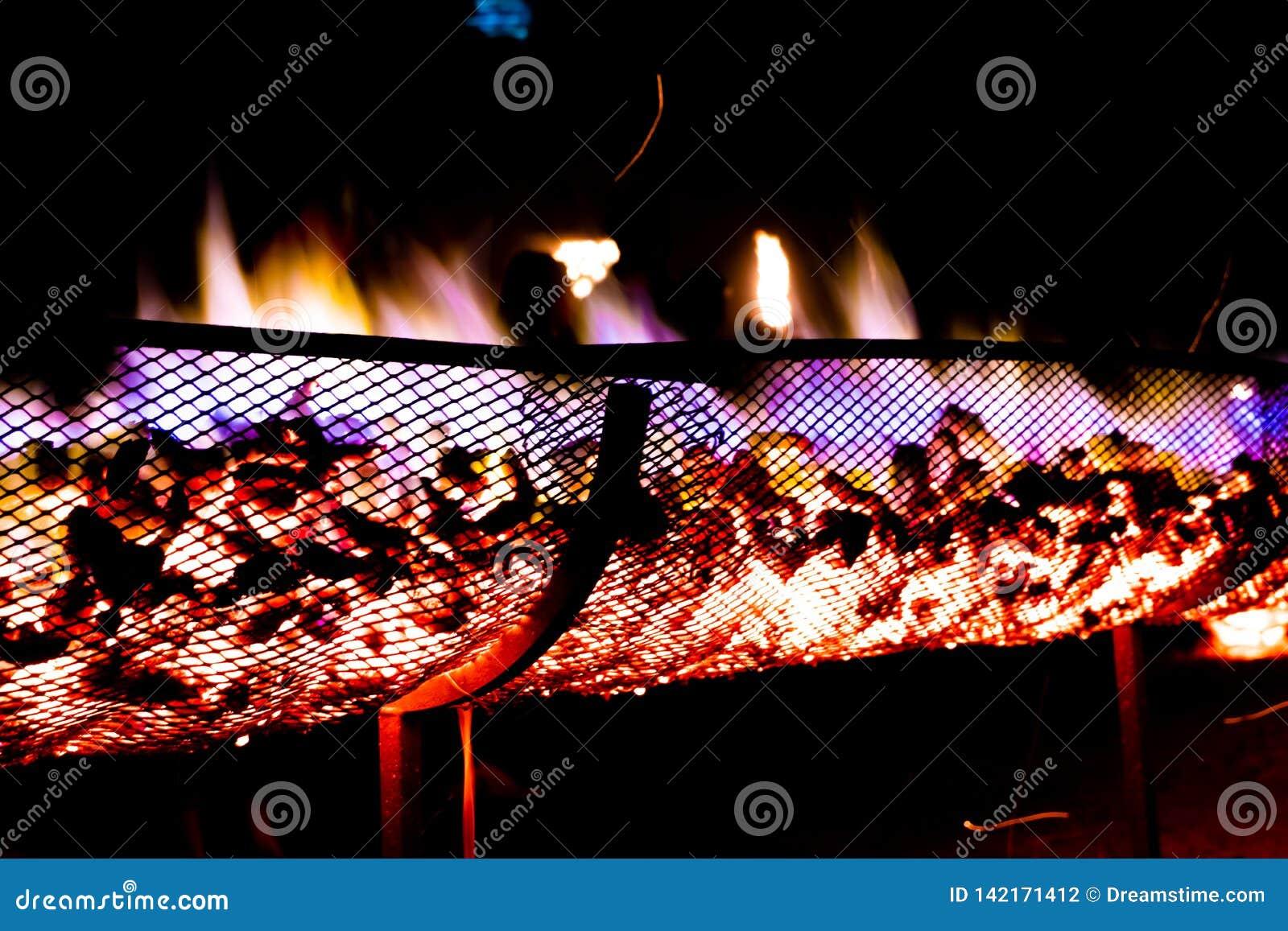 Klatka ogień