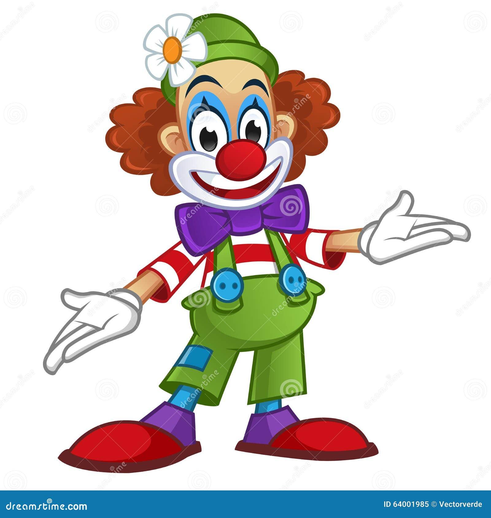 Klaun ilustracja wektor obraz z o onej z bia y smiling for Immagini pagliaccio per bambini