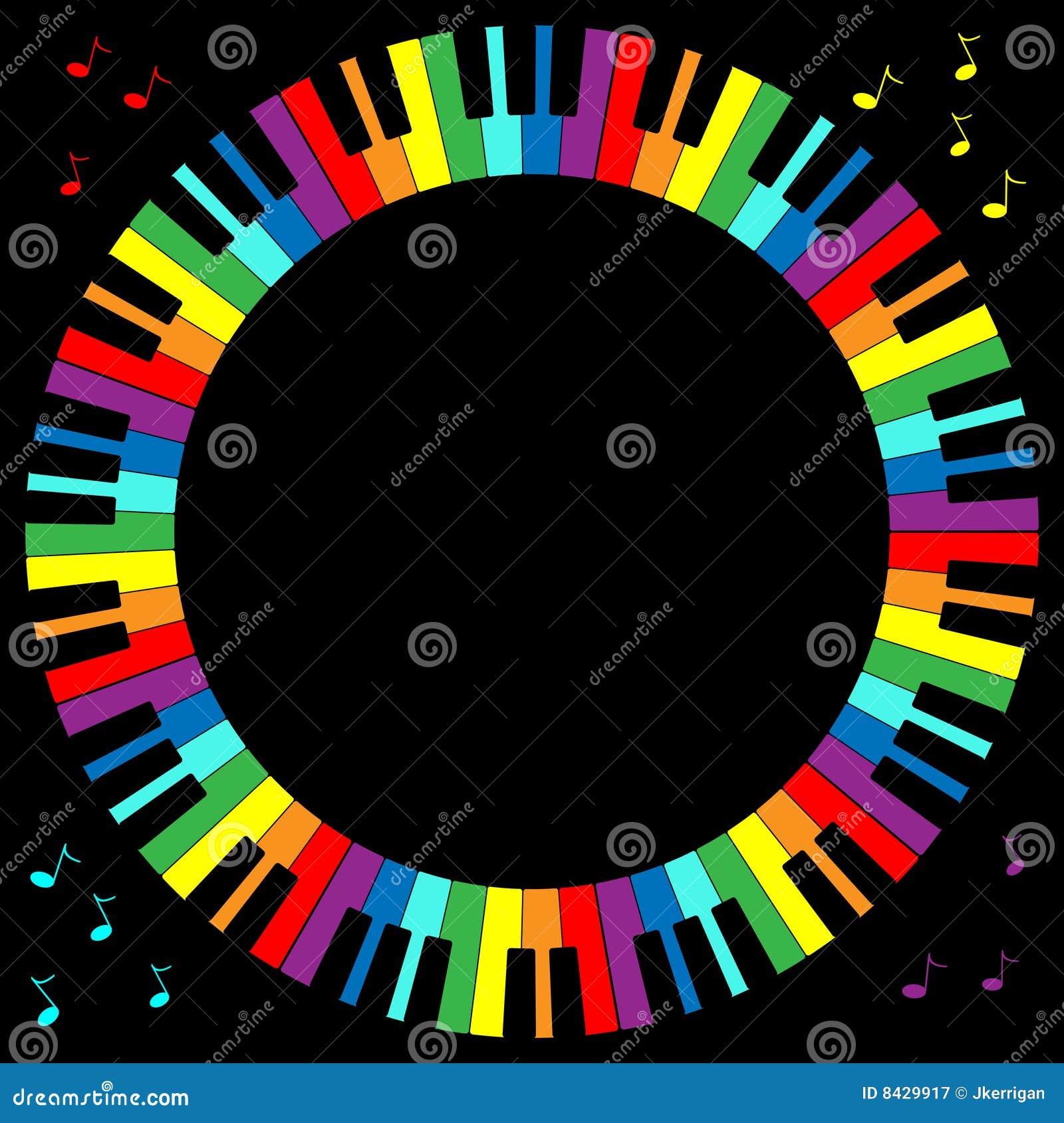 Klavier-Tastatur-Feld