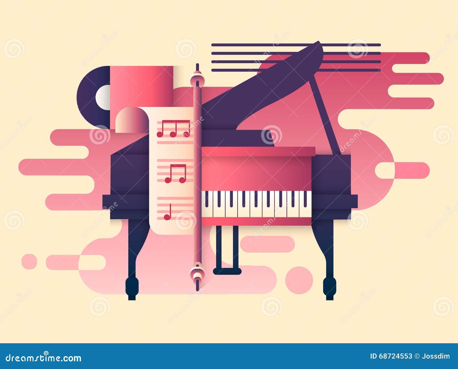 Klavierdesign flach