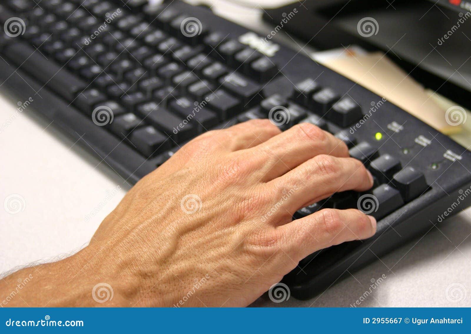 Klawiatura ręce