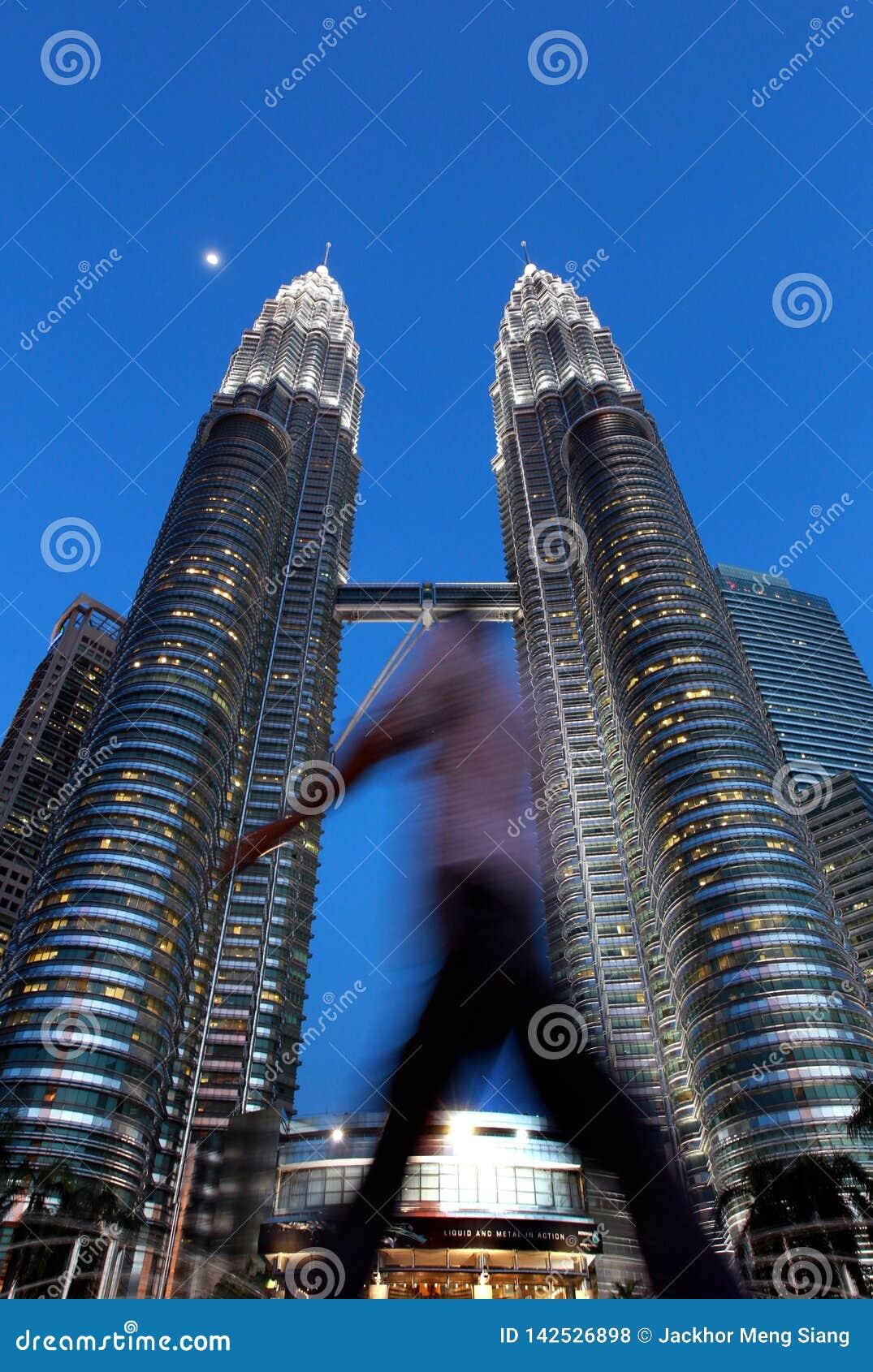 KLCC 天然碱耸立孪生 马来西亚