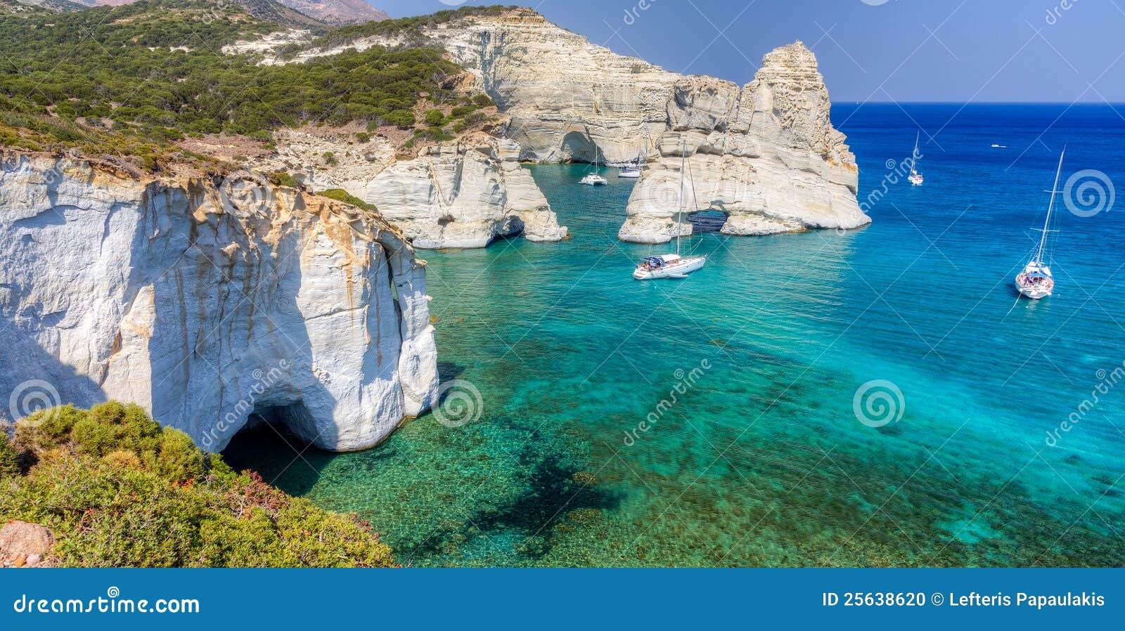 Kleftiko Milos ö, Cyclades, Grekland