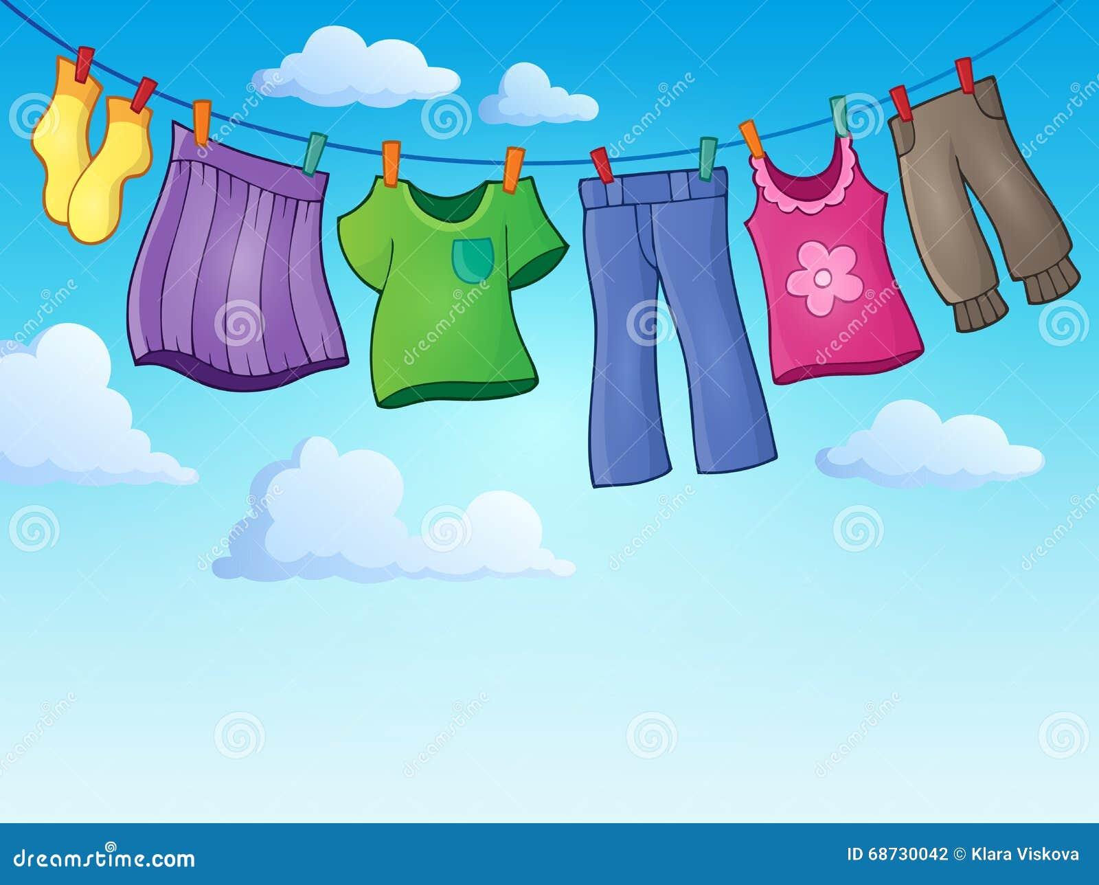 Kleidung auf Kleidungslinie Themabild 2