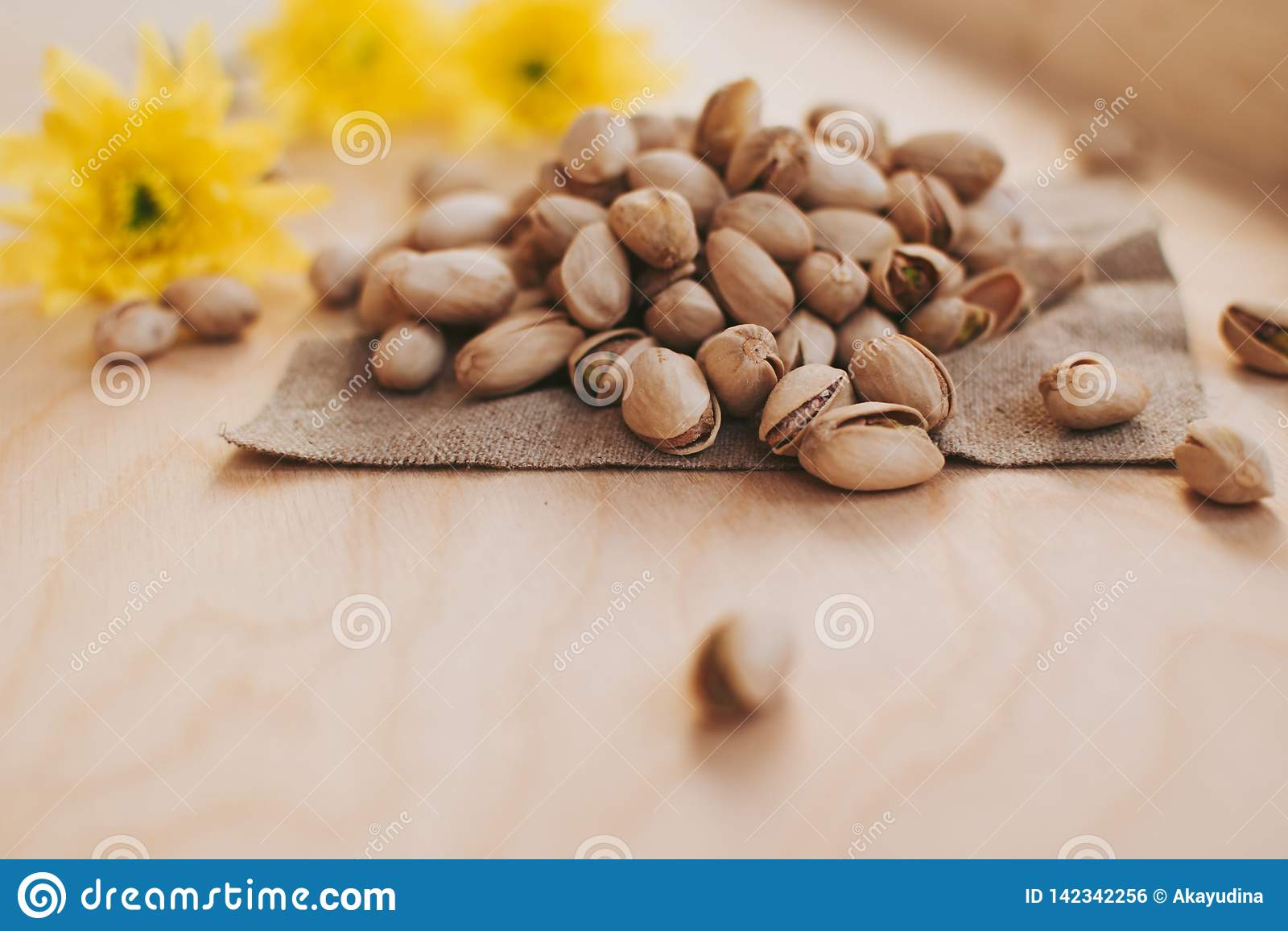 Klein handvol pistaches