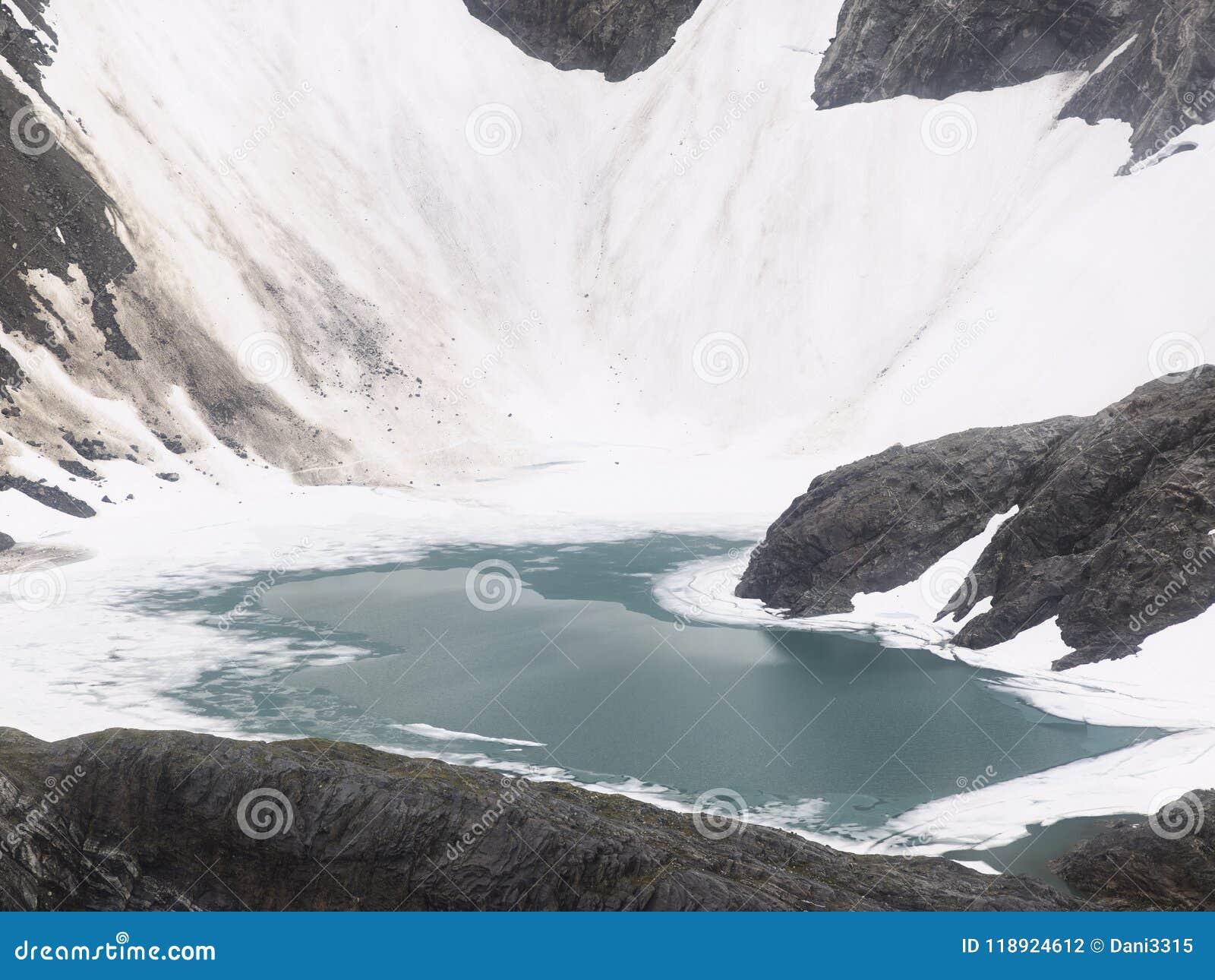 Klein Ijzig Meer dichtbij Mendenhall-Gletsjer, Alaska