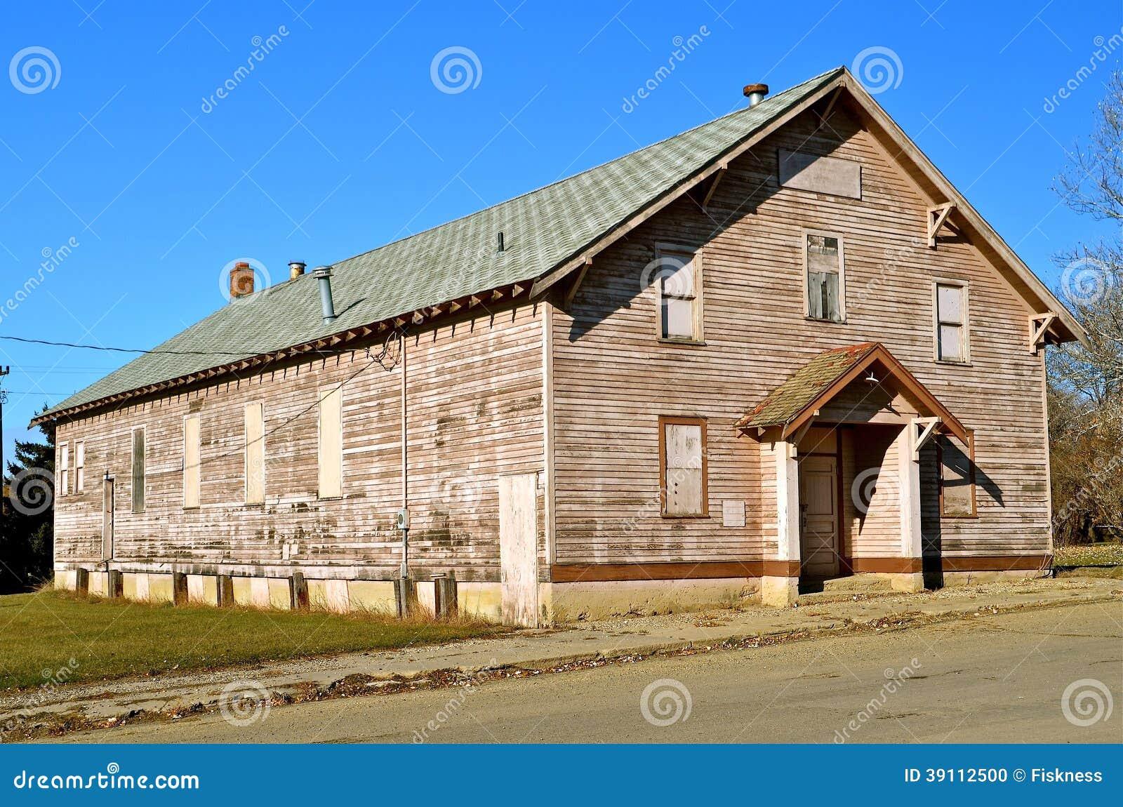 Klein Stad Verlaten Pakhuis