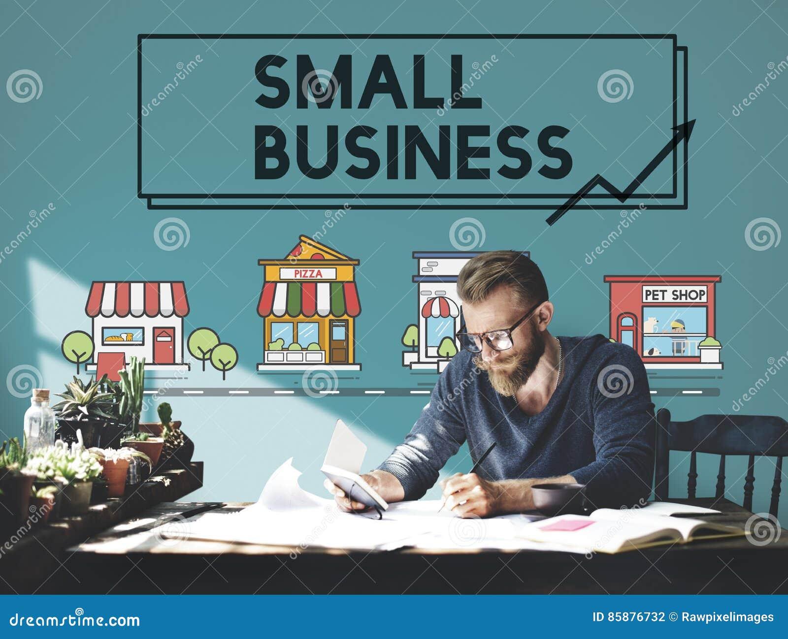 Kleinbetrieb-Strategie-Marketing-Unternehmens-Konzept