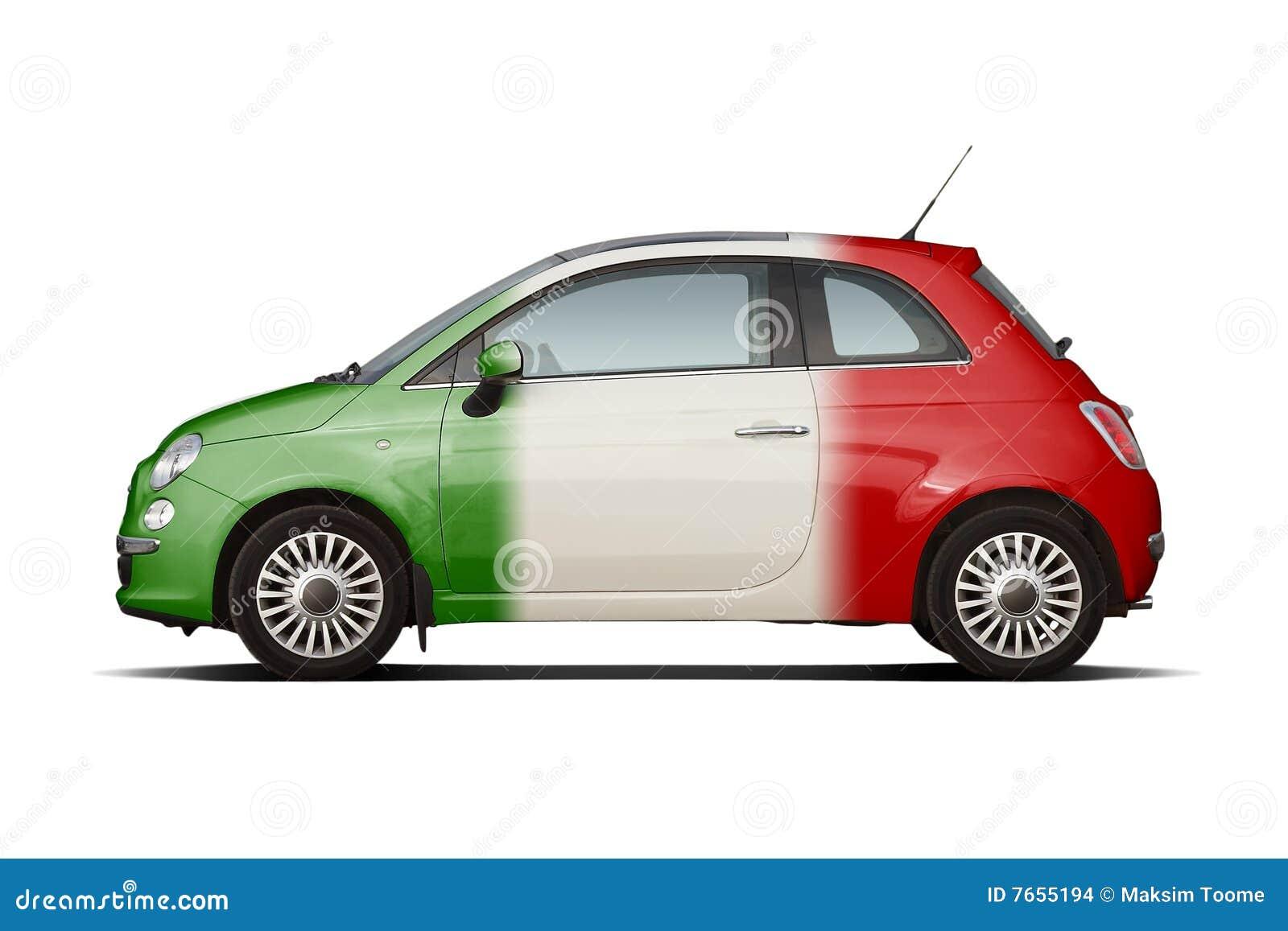 kleine auto in kleuren van italiaanse vlag stock afbeeldingen afbeelding 7655194. Black Bedroom Furniture Sets. Home Design Ideas