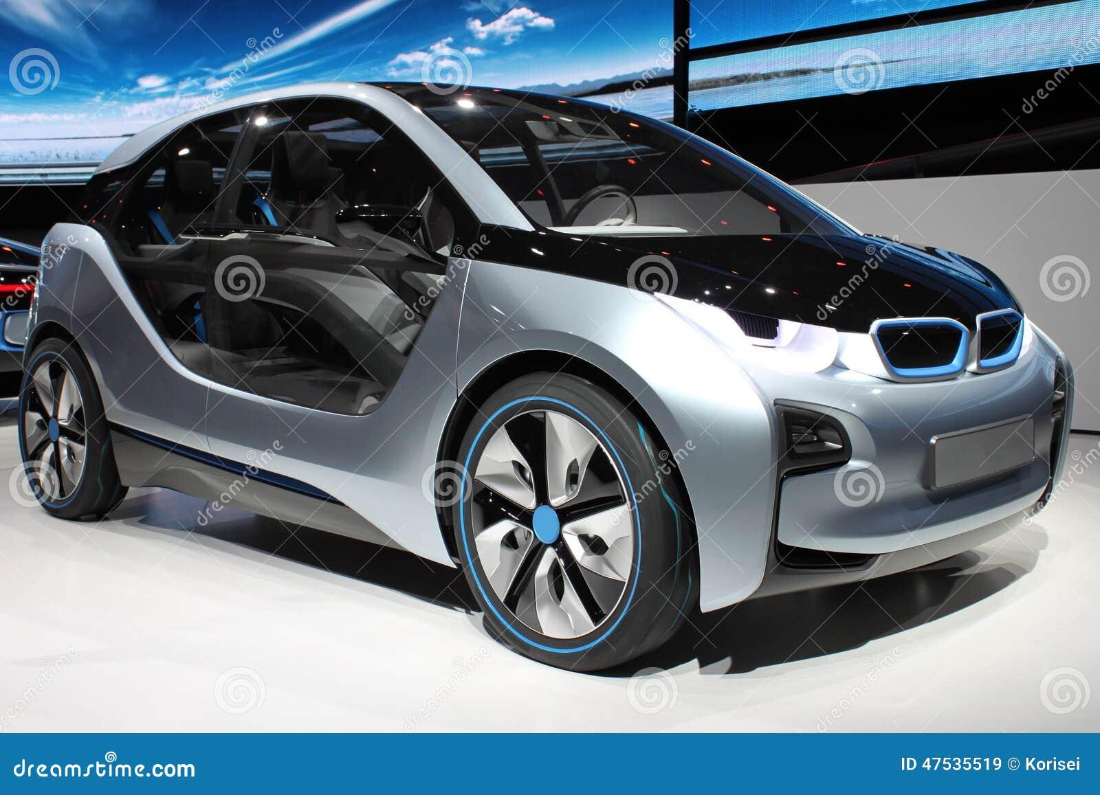 Kleine Elektrische Auto Stock Afbeelding Afbeelding Bestaande Uit