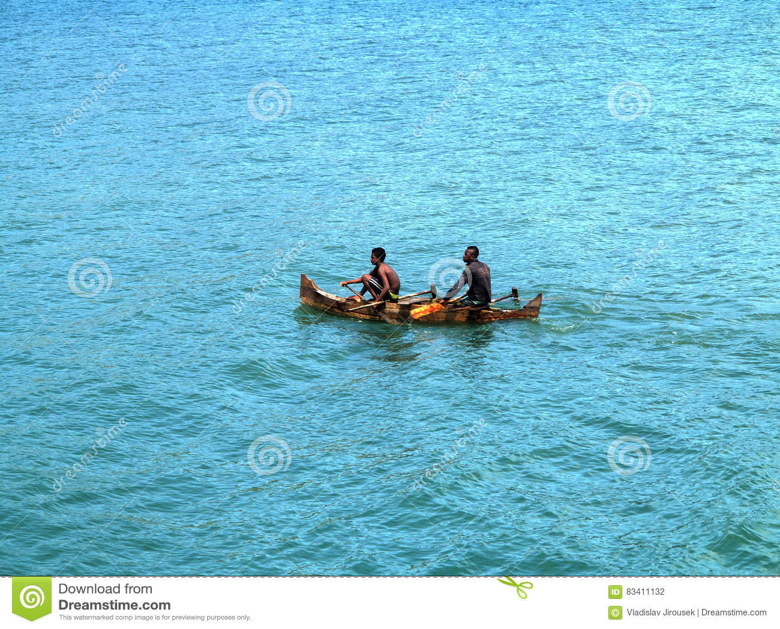 Kleine Fischerboote in der Bucht oagascar,
