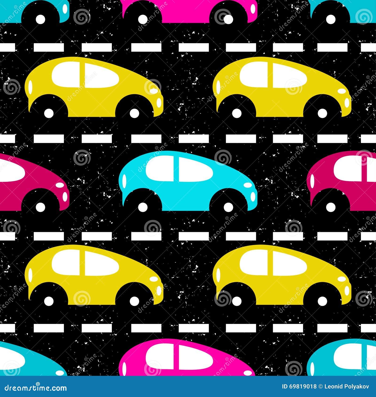 Kleine Gekleurde Auto S Op De Weg Mooie Achtergrond Vector Illustratie Illustration Of Kleur Grafisch 69819018