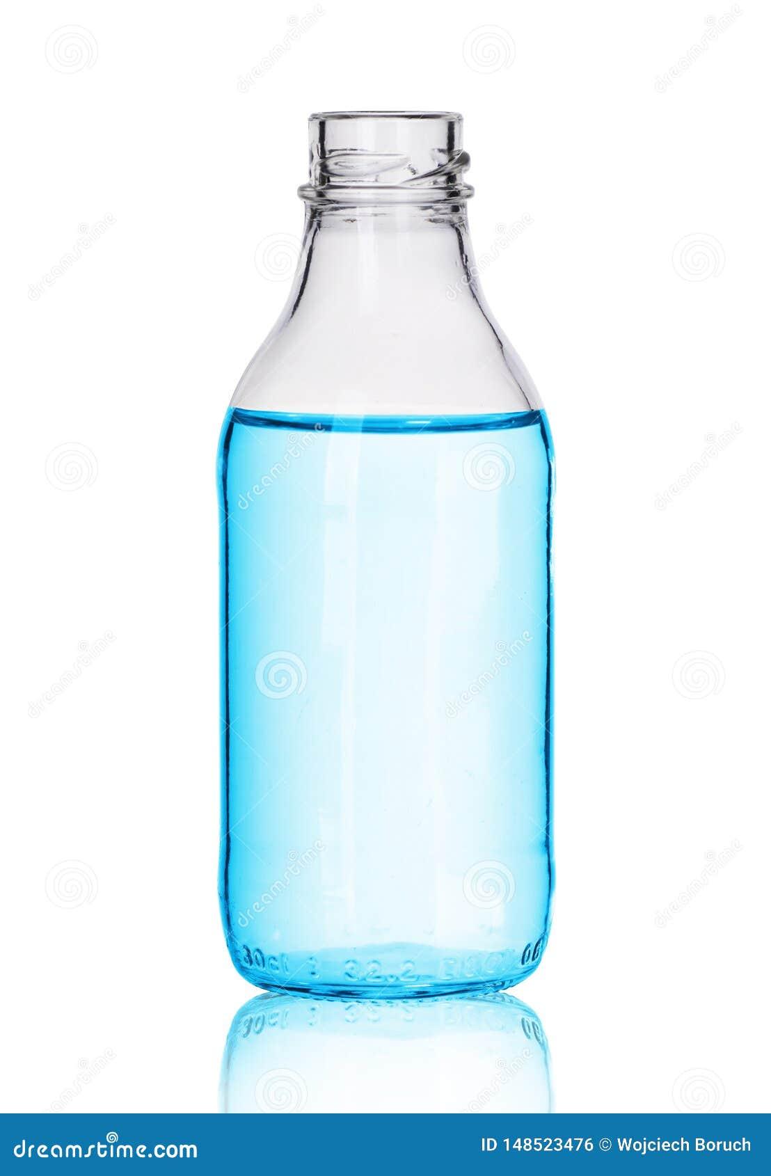 Kleine glasfles met vloeistof