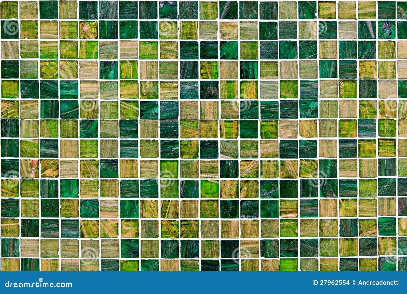 Groene Mozaiek Tegels : Kleine groene mozaïektegels stock foto afbeelding bestaande uit