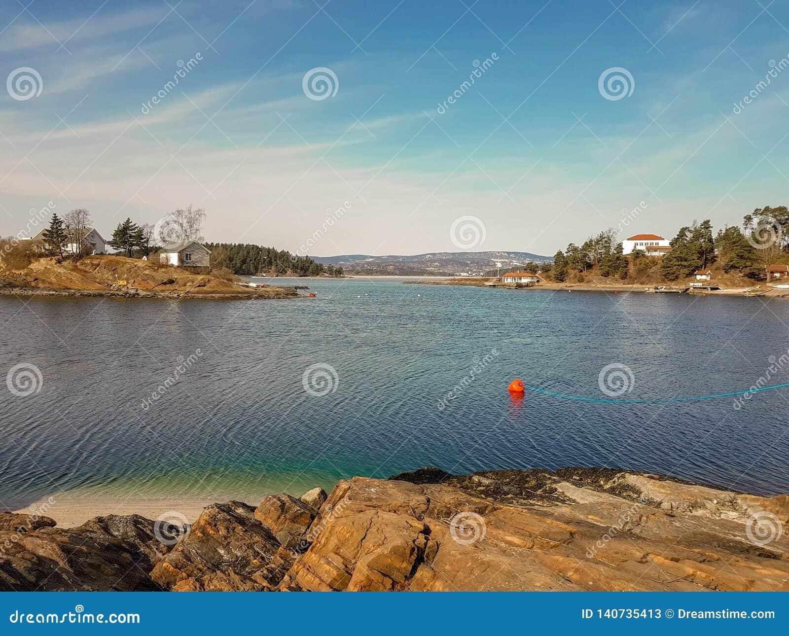 Kleine Insel im Oslo-Fjord