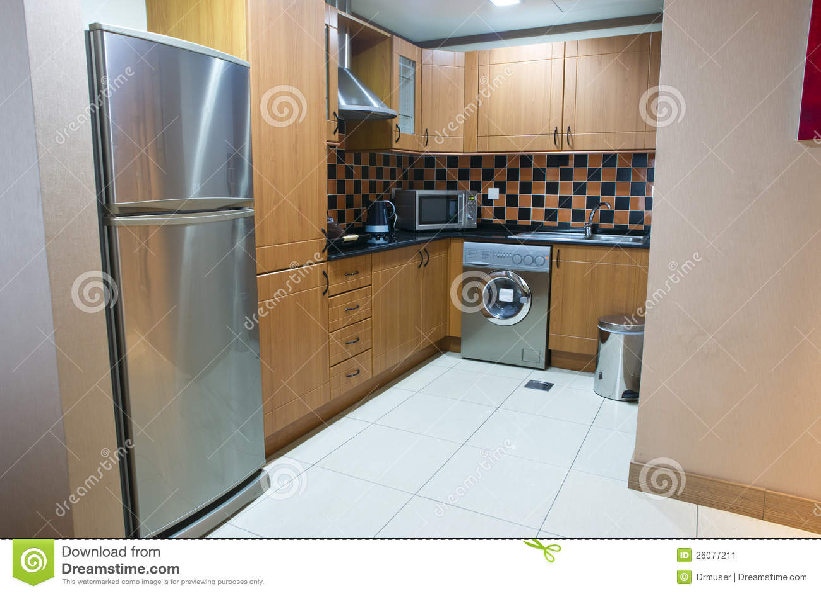 Kleine keuken stock afbeelding afbeelding bestaande uit huis 26077211 - Kleine keuken amenagee ...