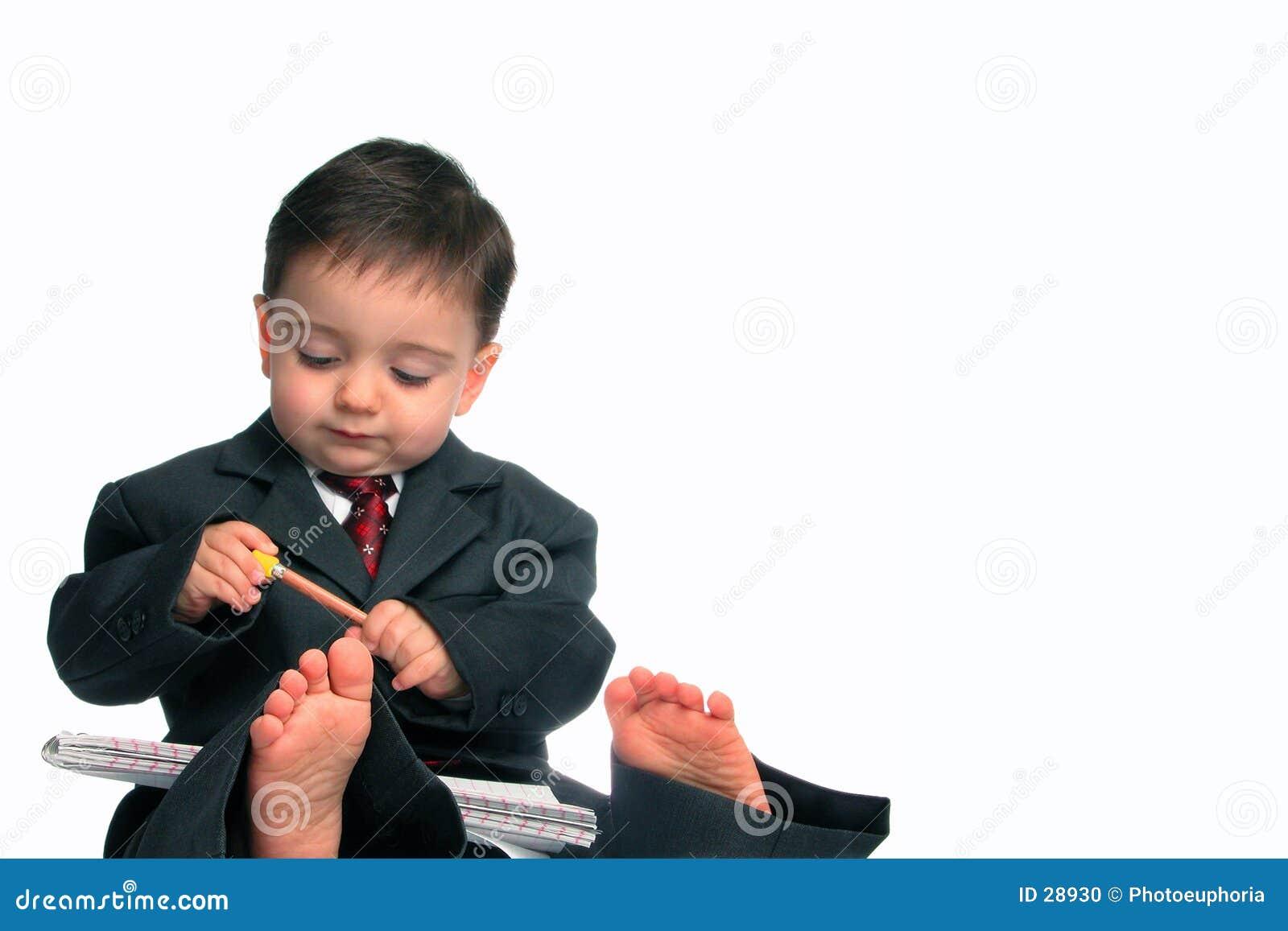 Kleine Mann-Serie: Barfuß u. Geschäft (1 von 2)