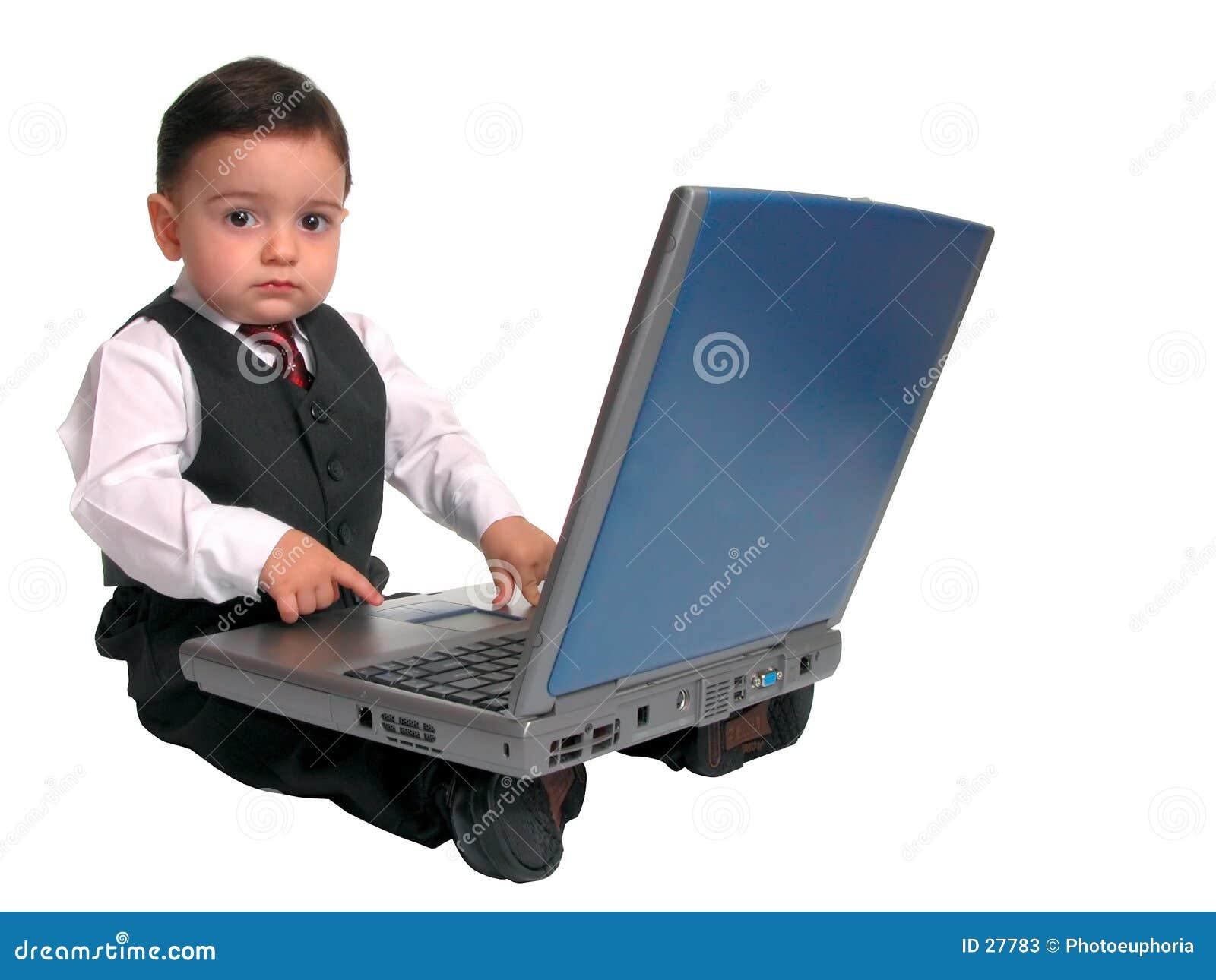 Kleine Mann-Serie: Oben schauen vom Laptop