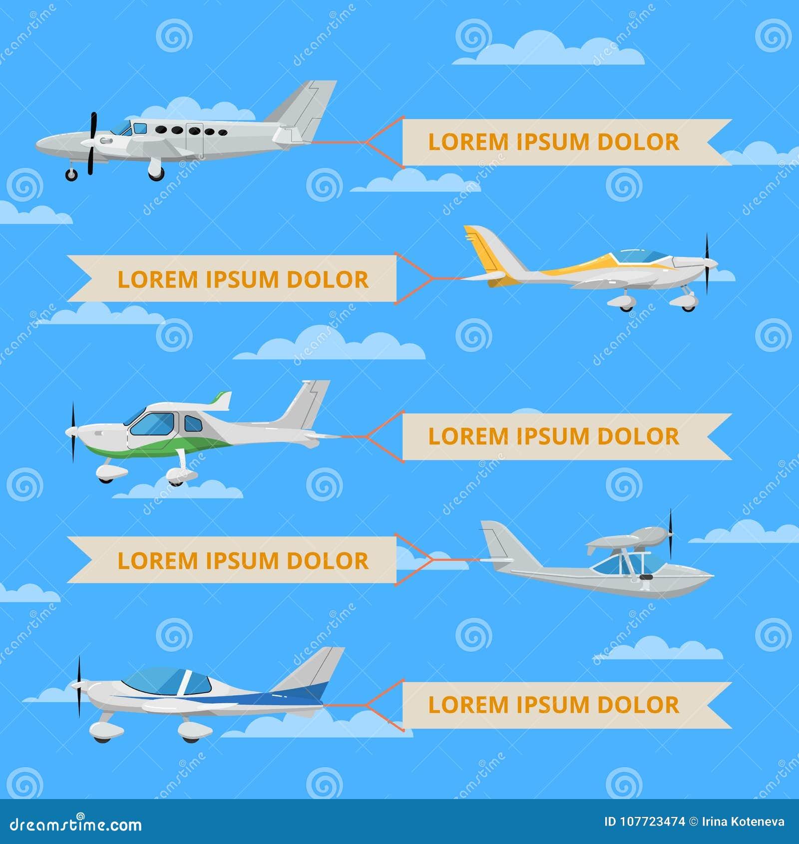Kleine propellervliegtuigen met banners in hemel
