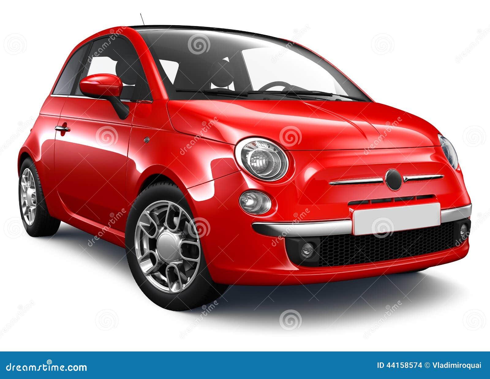 kleine rode auto stock illustratie afbeelding 44158574. Black Bedroom Furniture Sets. Home Design Ideas