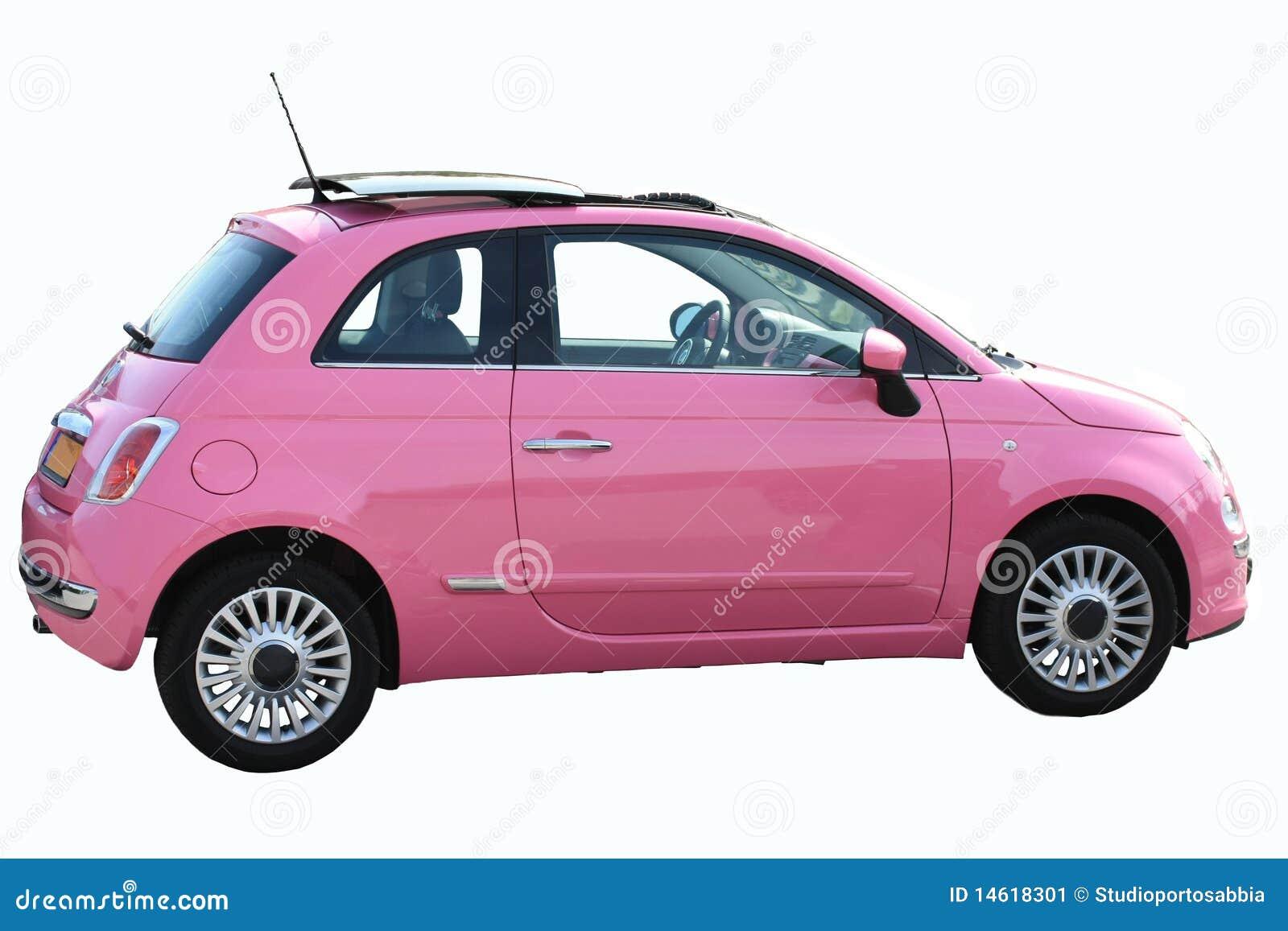 kleine roze italiaanse auto stock afbeelding afbeelding. Black Bedroom Furniture Sets. Home Design Ideas
