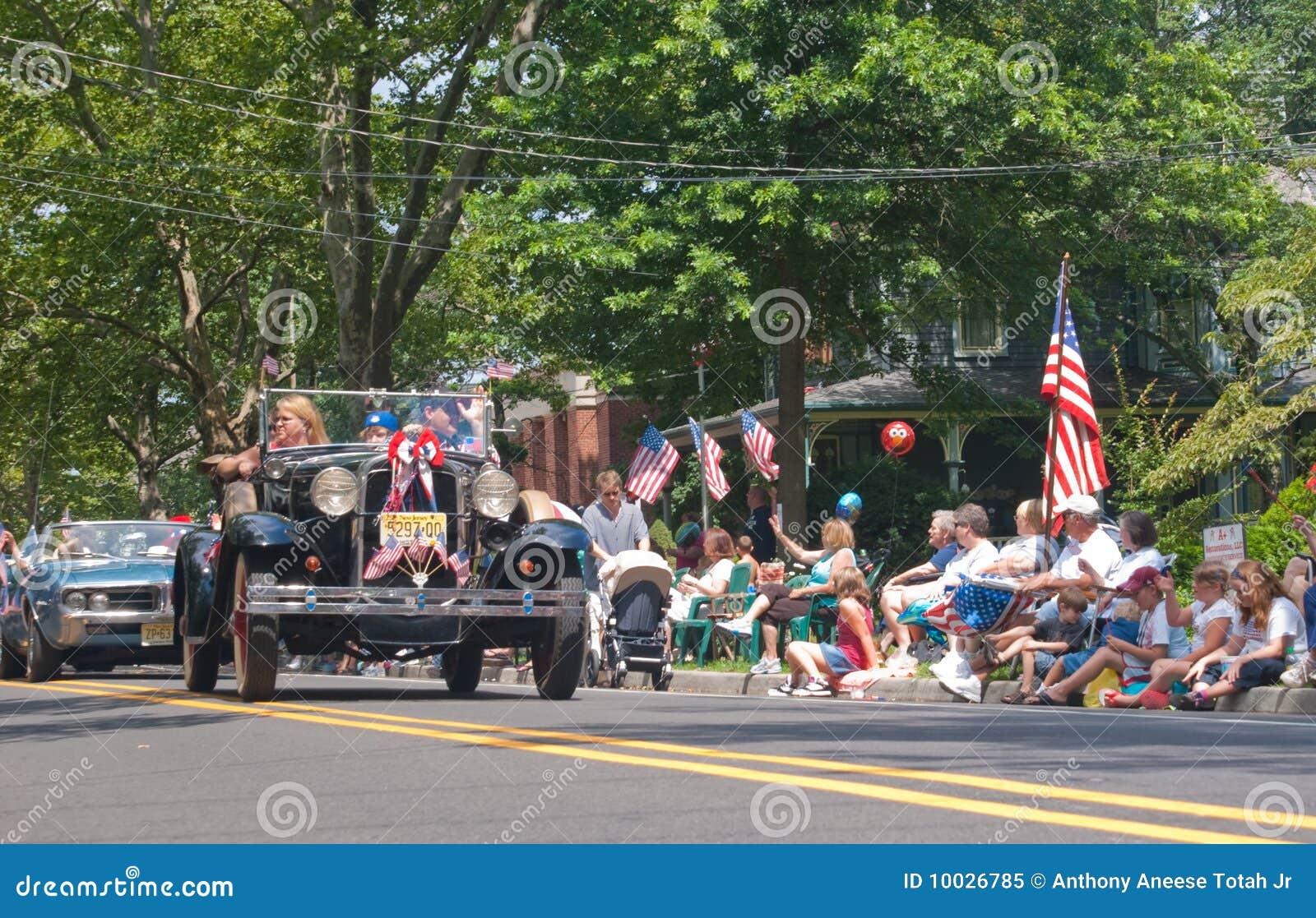 Kleine stad vierde van de Parade van Juli