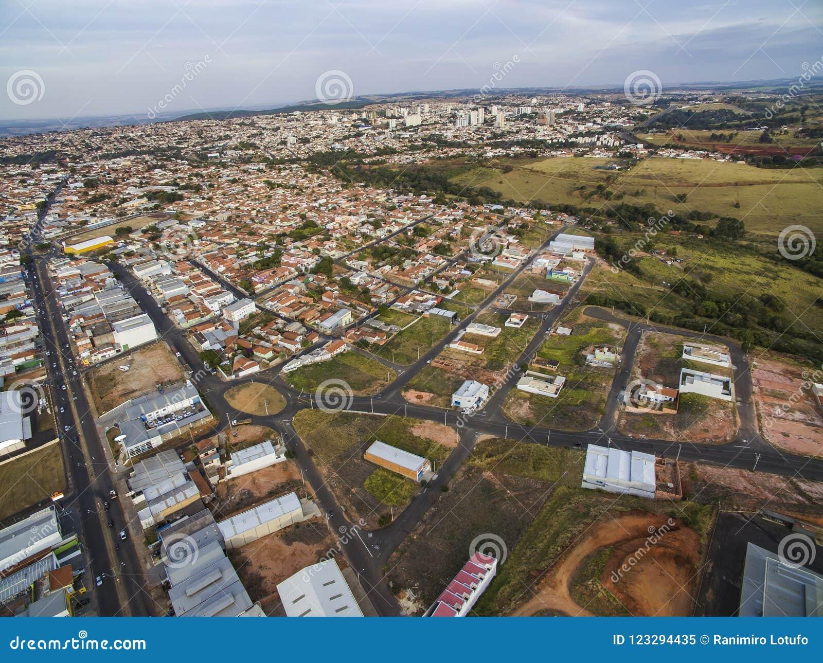 Kleine steden in Zuid-Amerika, stad van Botucatu in de staat van Sao Paulo, Brazilië