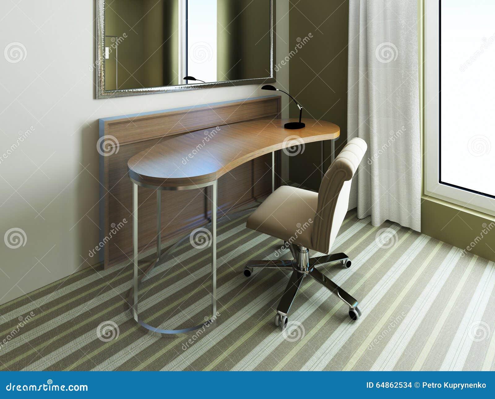 Kleine Tabelle Nahe Spiegel Im Schlafzimmer Stockfoto - Bild von ...