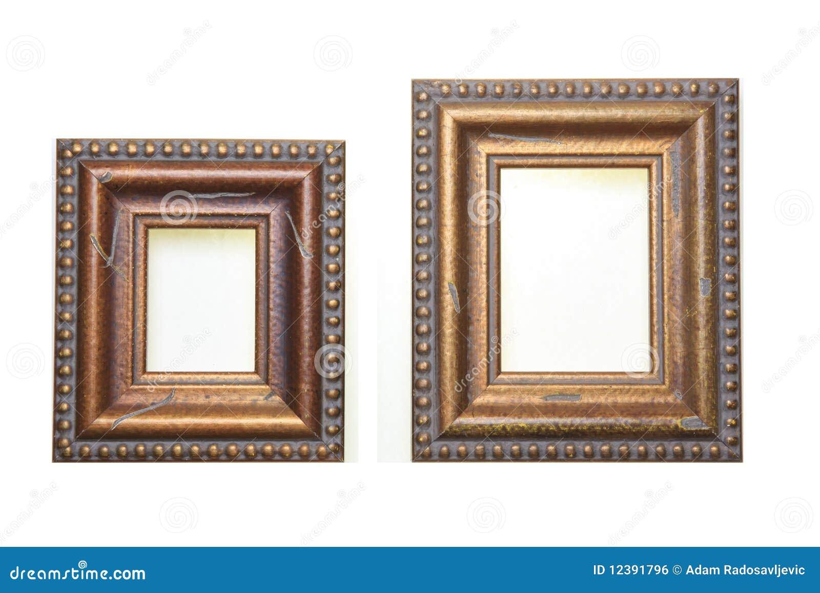 Kleine Und Große Bilderrahmen Stockfoto - Bild von hintergrund ...