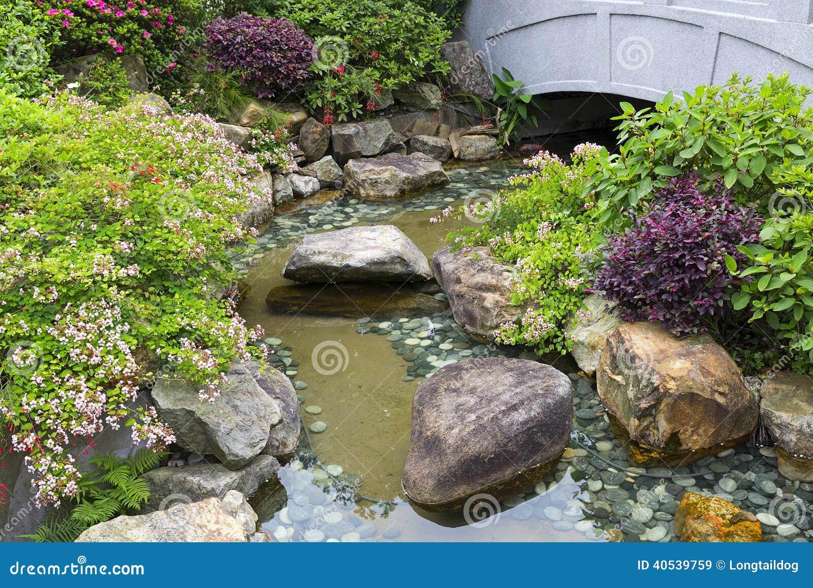 Kleine vijver stock afbeelding afbeelding bestaande uit for Vijver voor kleine tuin