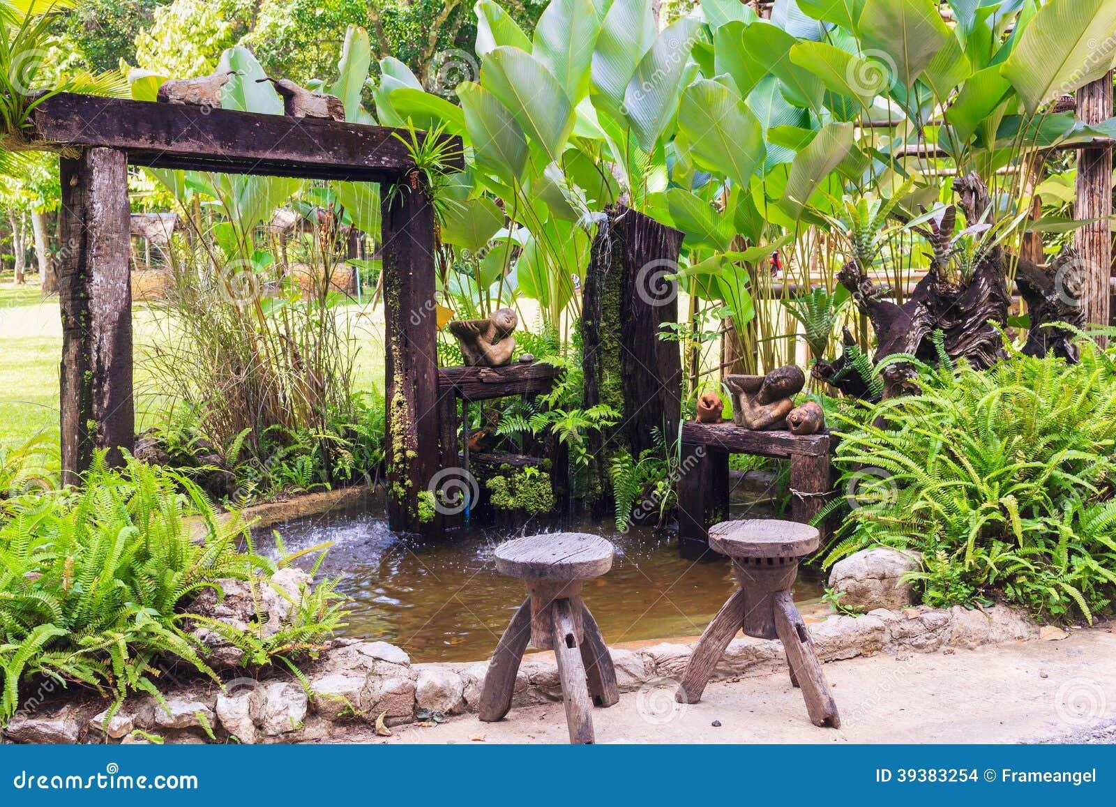 Kleine vijver en tuin stock foto afbeelding 39383254 for Vijver in tuin