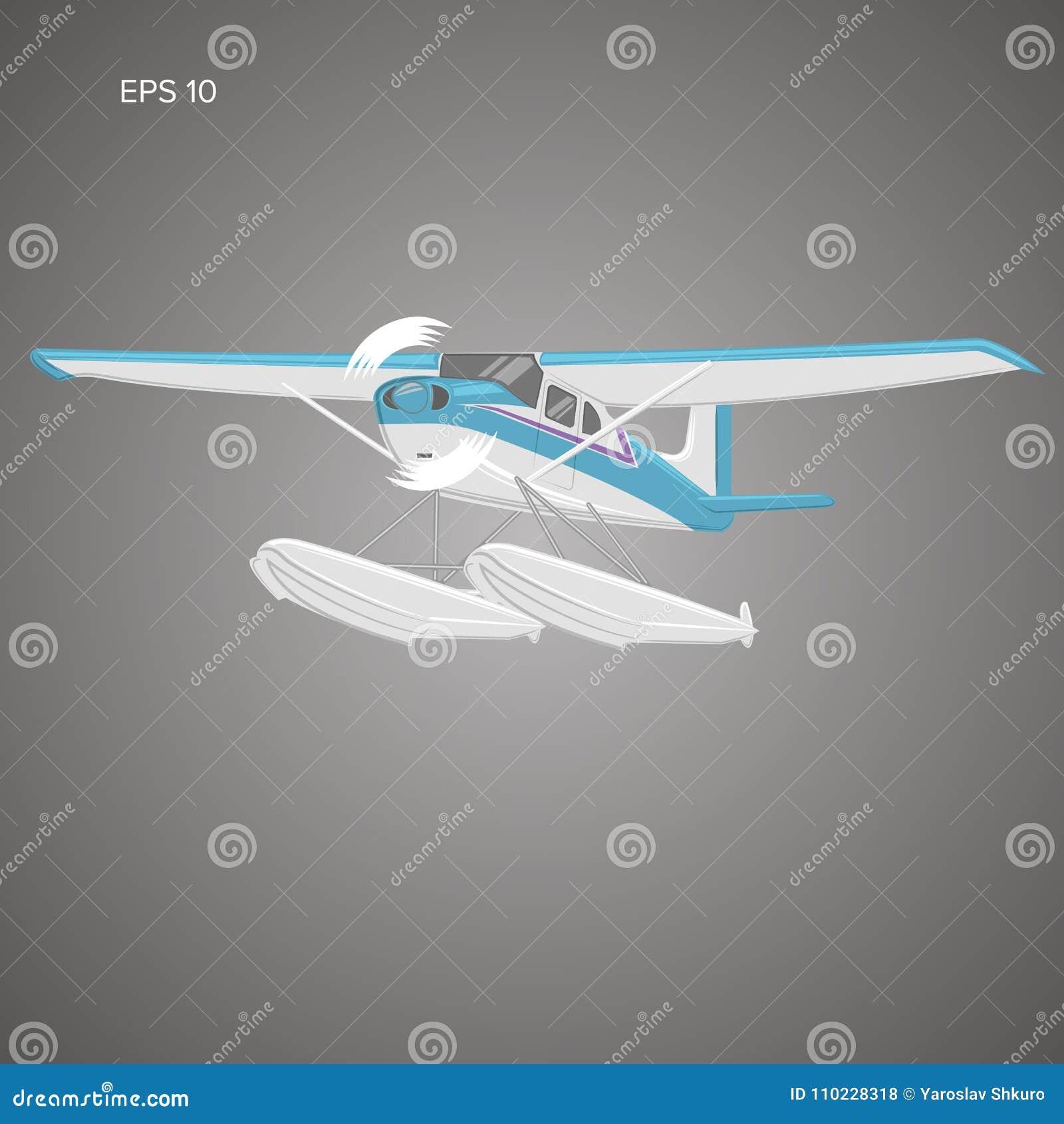 Kleine watervliegtuig geïsoleerde vectorillustratie