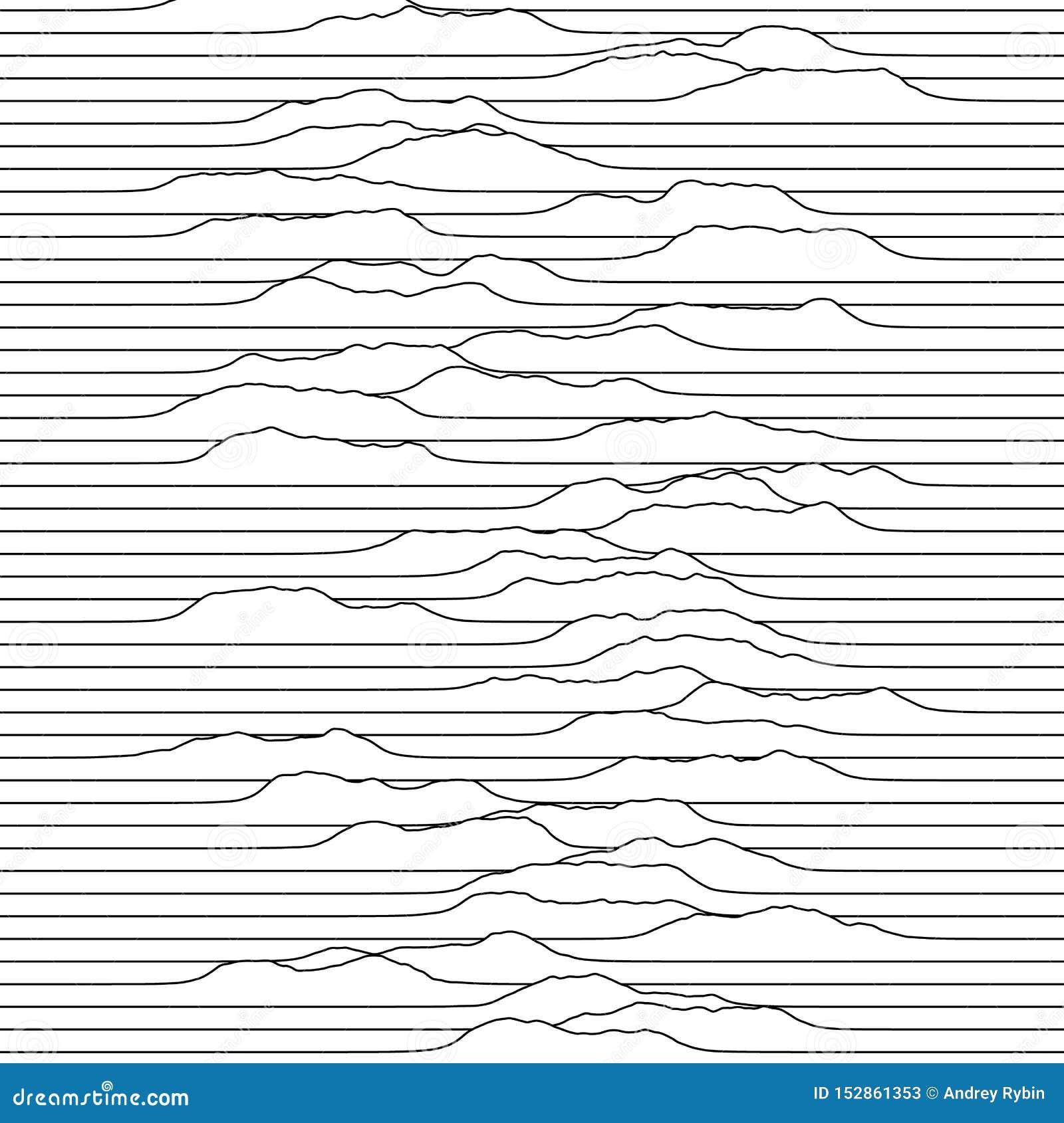 Kleine Wellen, die durch die Linie Raum sich bewegen Abstrakter vektorhintergrund