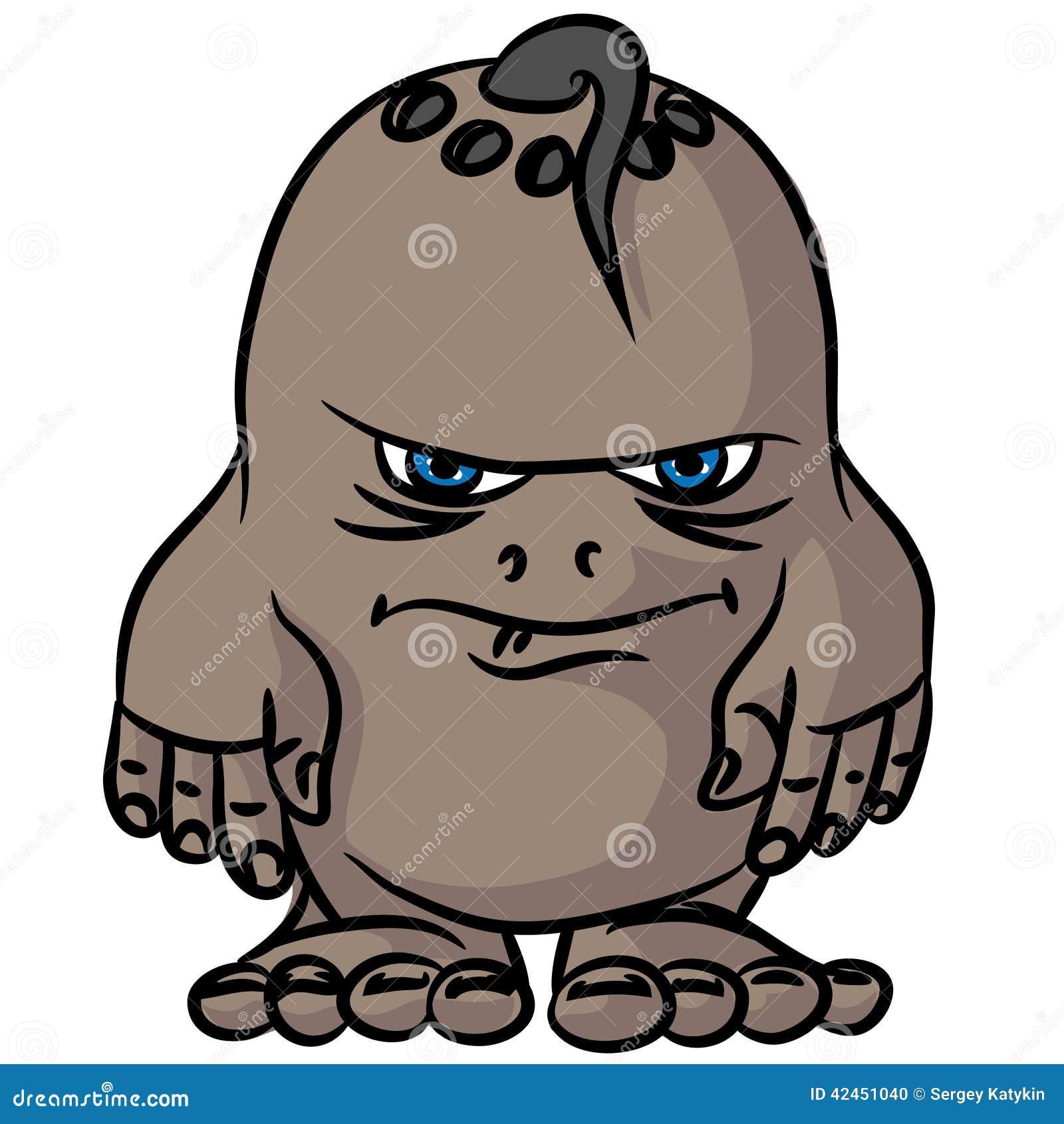 Kleine Zeichnung ein verärgertes Monster