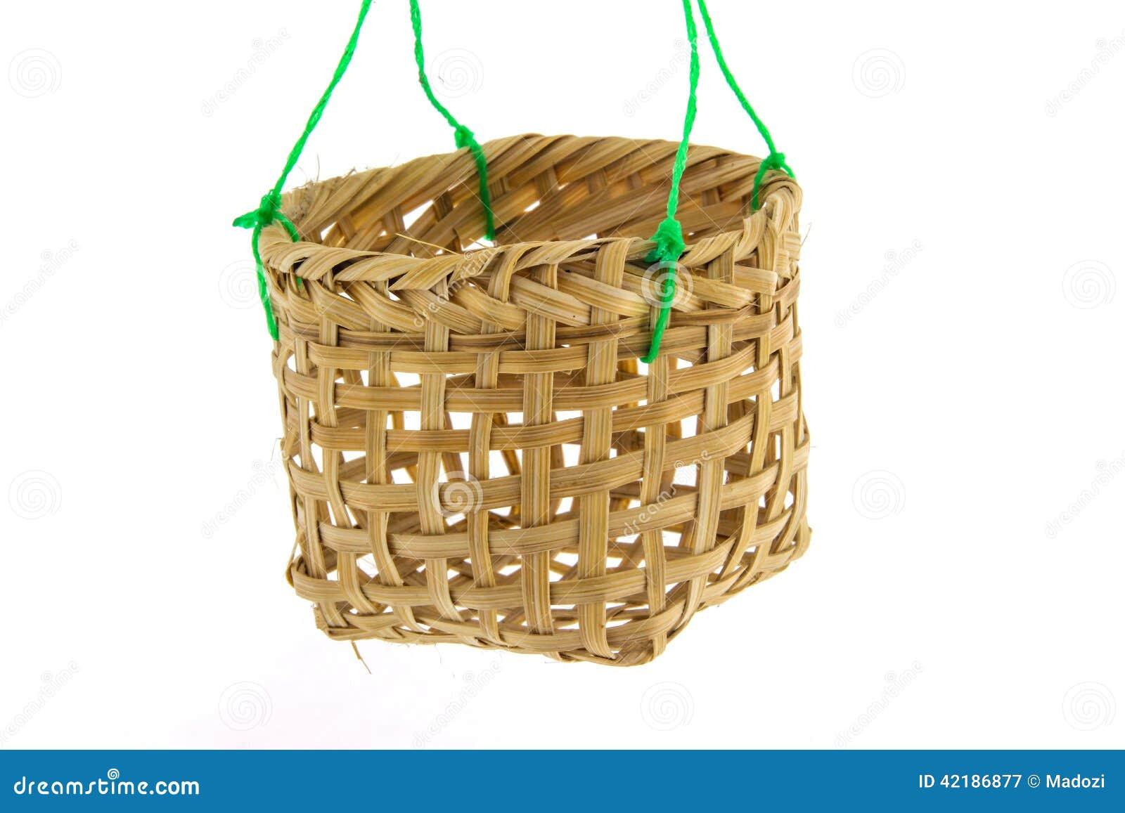 Kleiner Bambuskorb Stockbild Bild Von Horizontal Rund 42186877