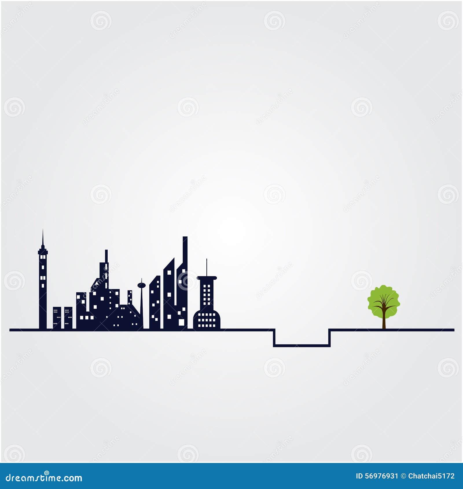 Kleiner Baum Und Die Gebäudehexenstadt Gestalten Hintergrund