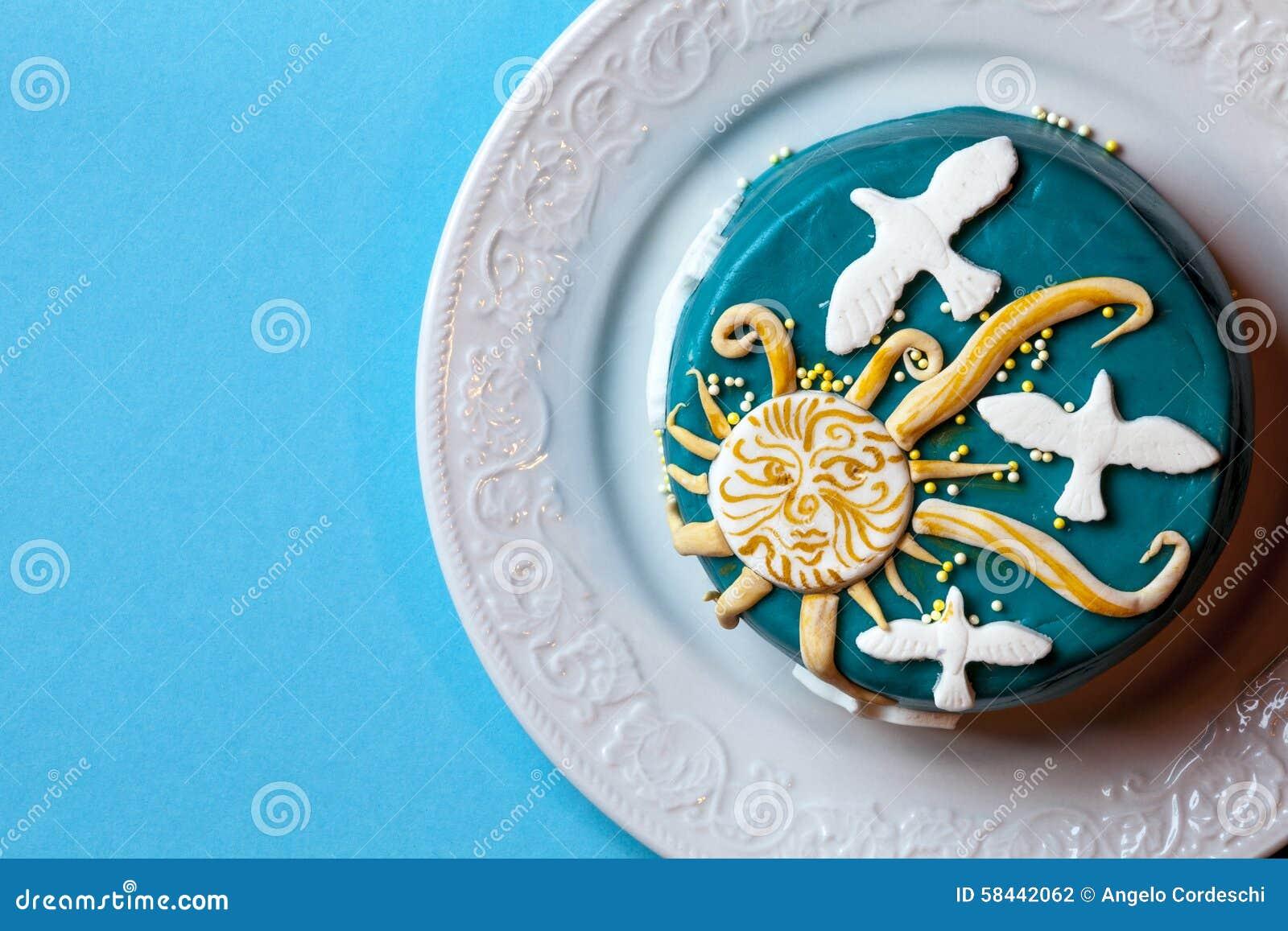 Gelbes Kuchendesign Logos Dekoration - conanpartners -