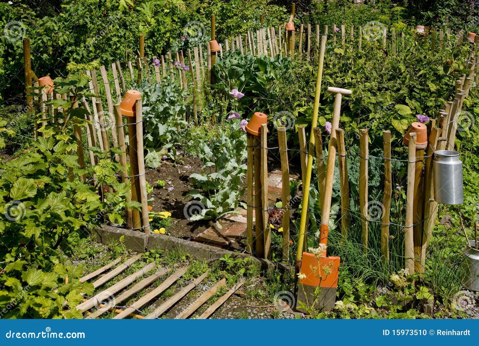 Kleiner Idyllischer Garten Stockfoto Bild Von Yard Blume 15973510