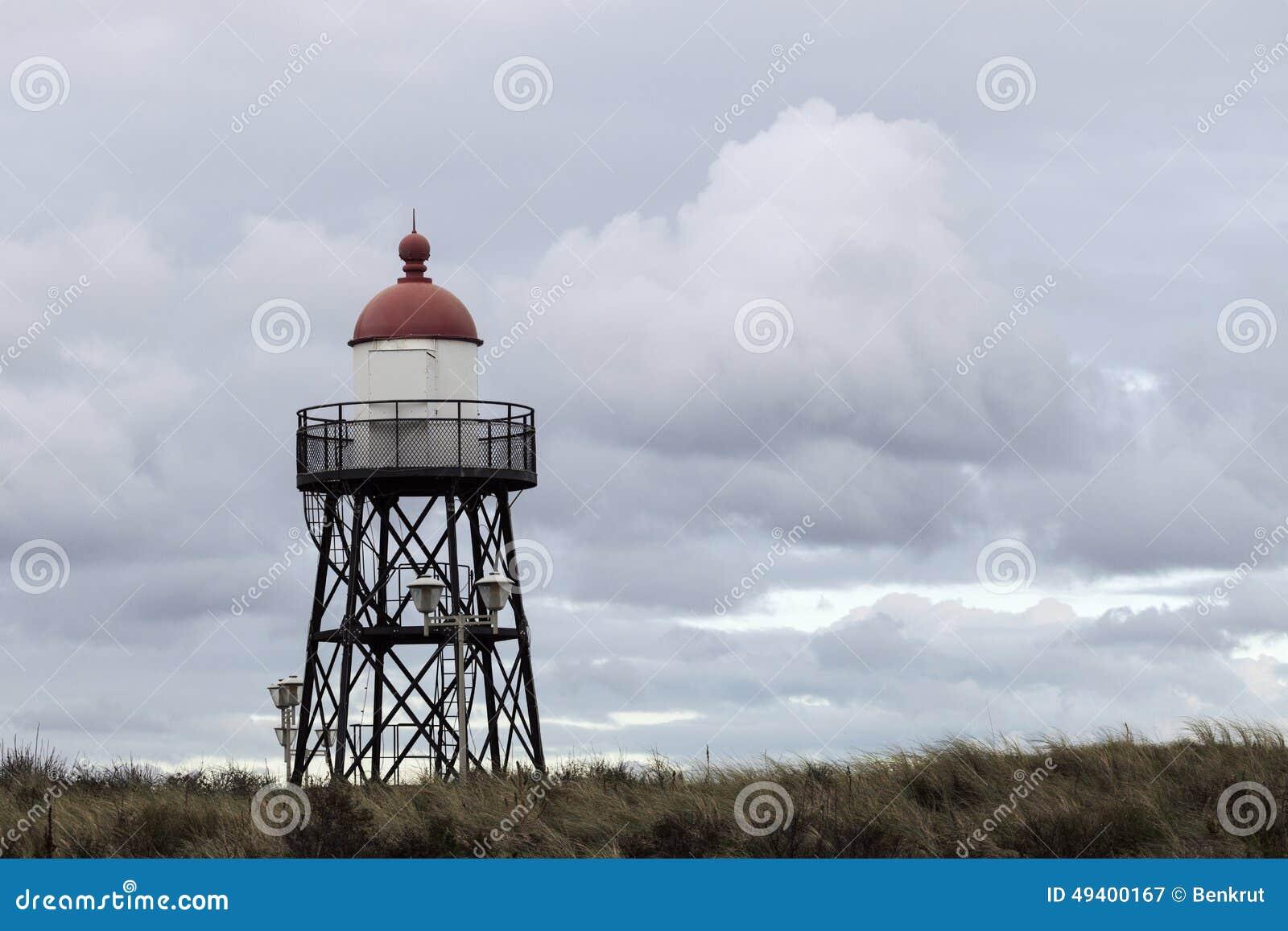 Download Kleiner Leuchtturm In Scheveningen Stockbild - Bild von abend, grenzstein: 49400167