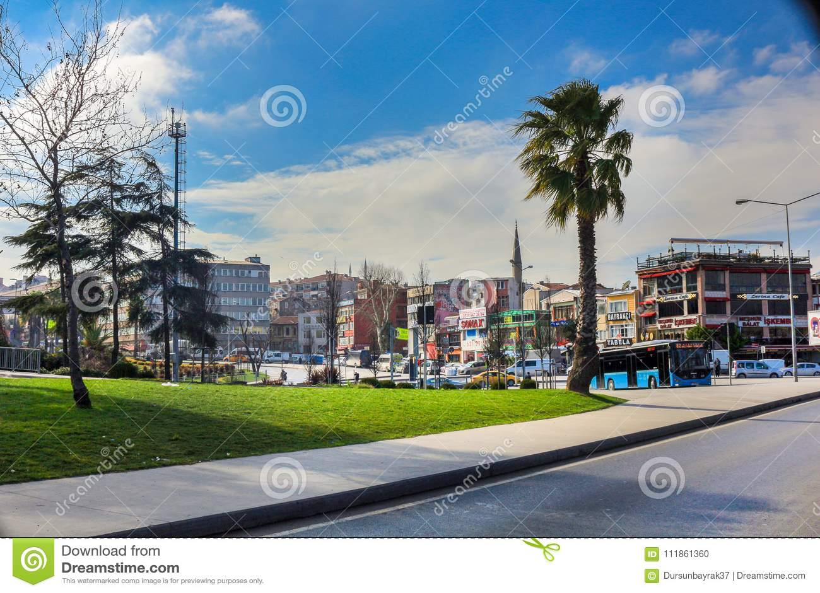 Kleiner Park u. Straße Unkapani Fatih Istanbul