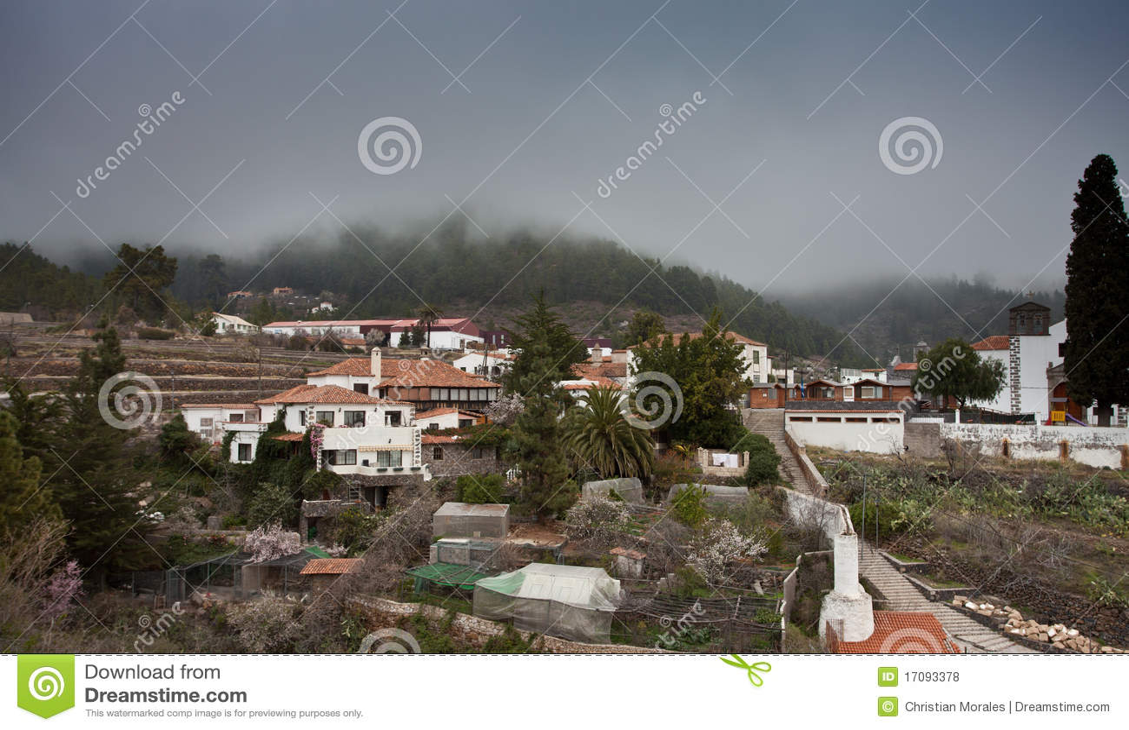 Kleines Dorf in Tenerife