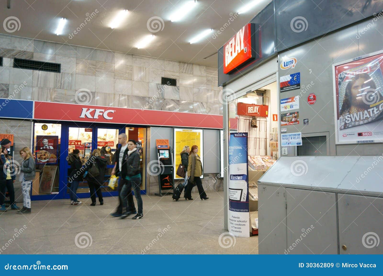 Kleines Geschäft und KFC